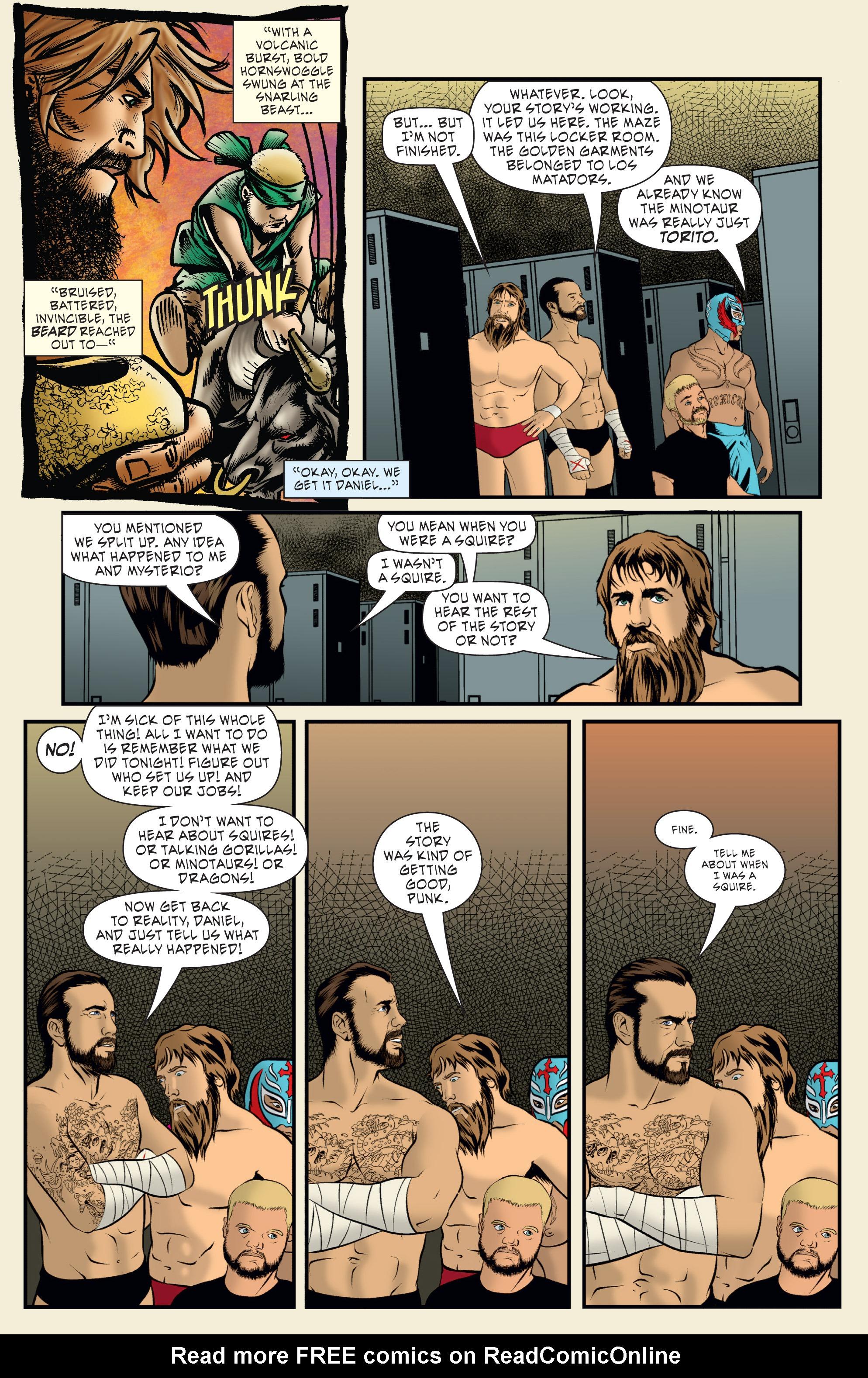 Read online WWE Superstars comic -  Issue #7 - 17