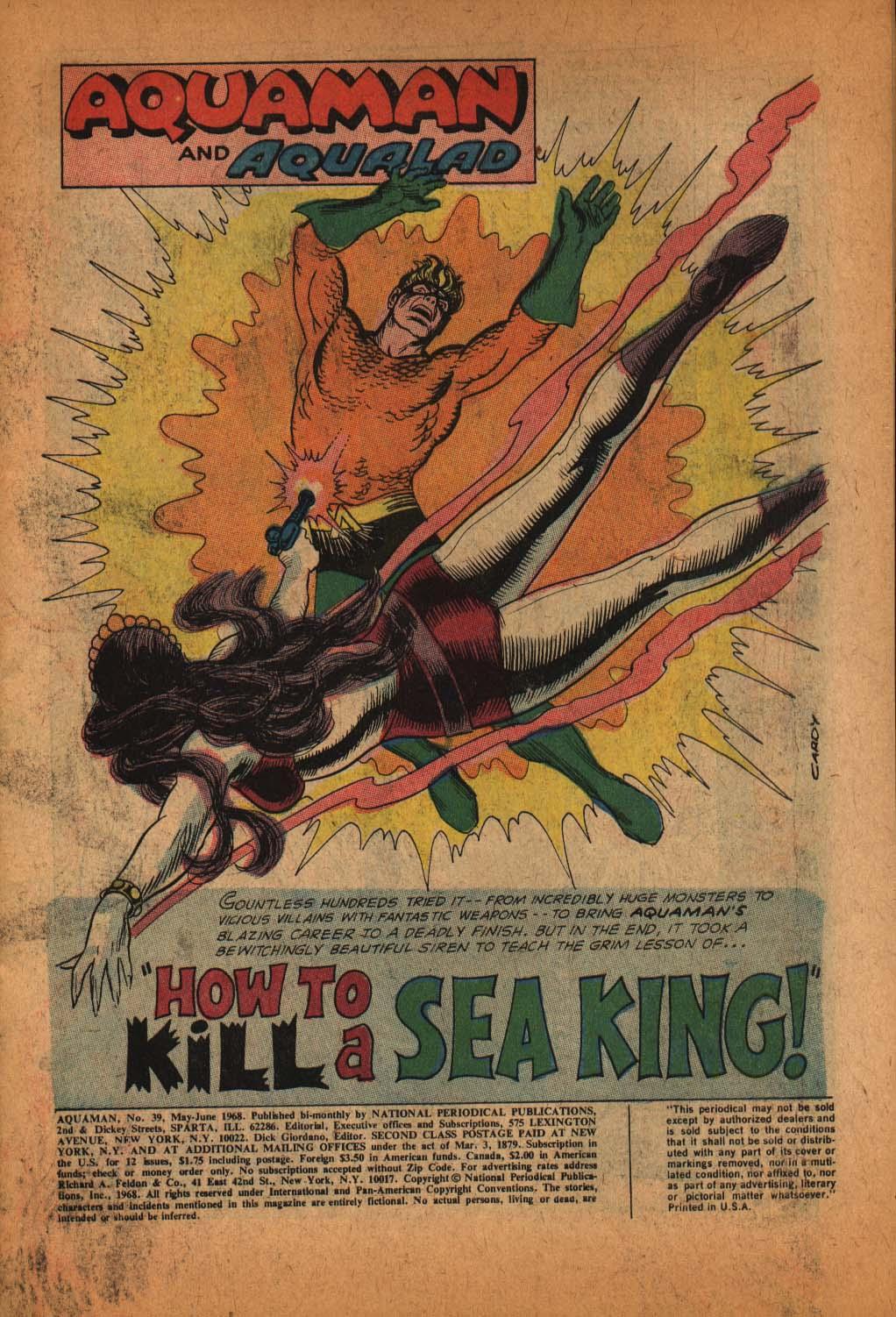 Read online Aquaman (1962) comic -  Issue #39 - 3