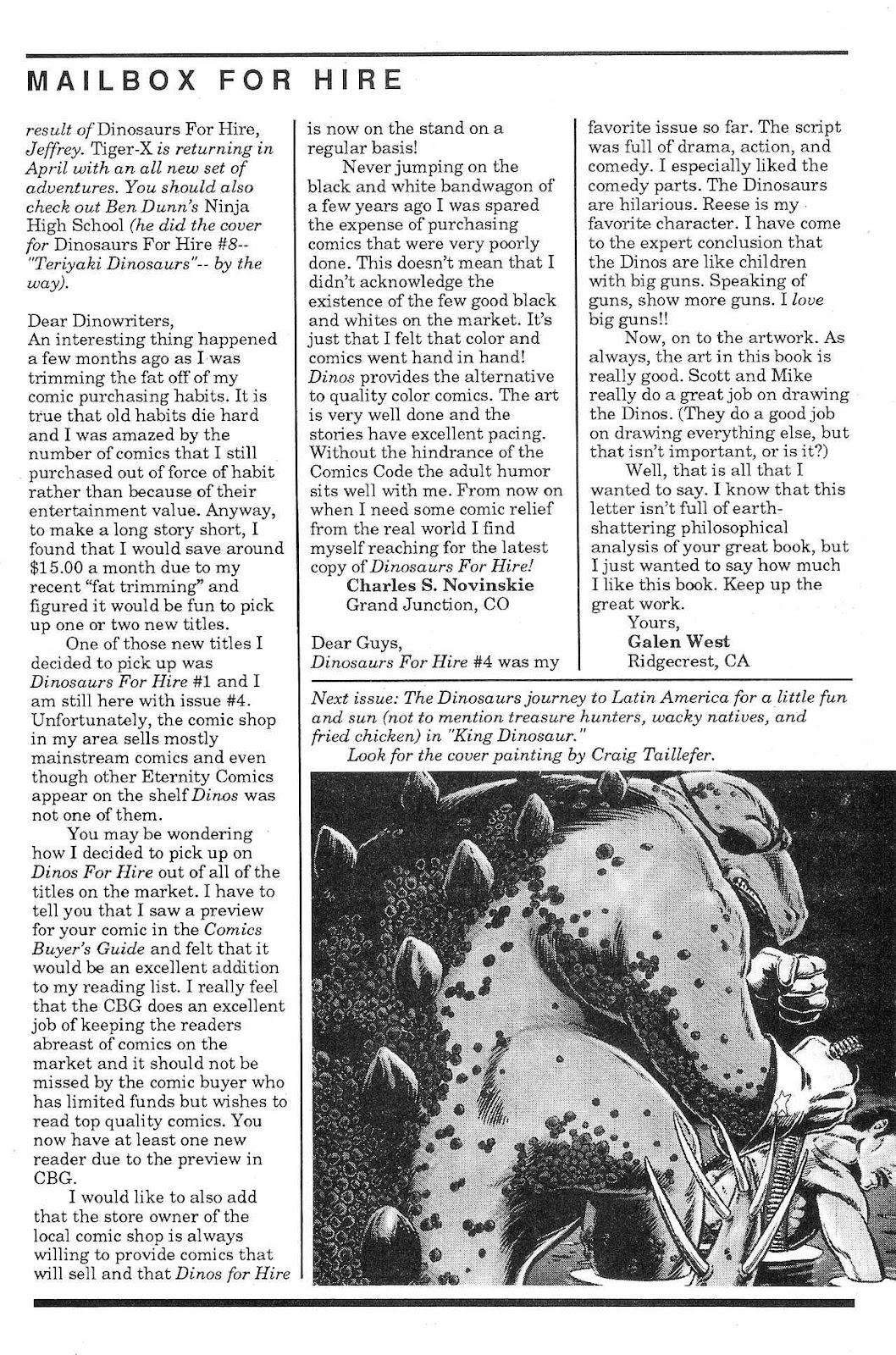 Dinosaurs For Hire (1988) issue 6 - Page 28