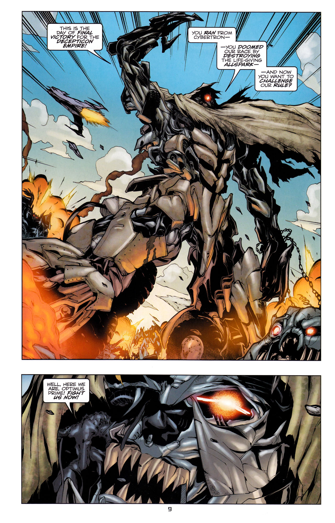 Read online Transformers: Dark of the Moon Movie Adaptation comic -  Issue #3 - 11