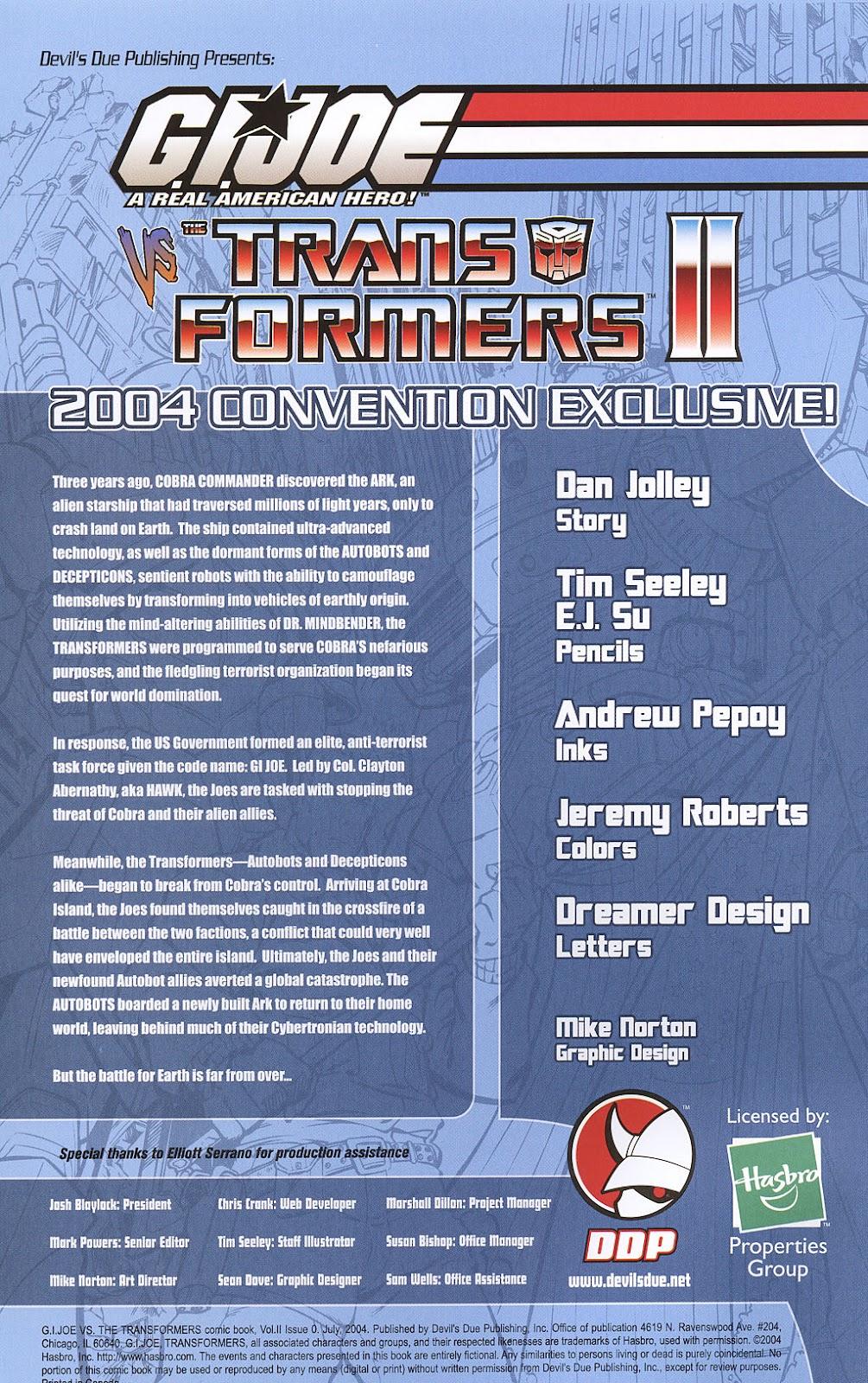 G.I. Joe vs. The Transformers II Issue #0 #1 - English 2