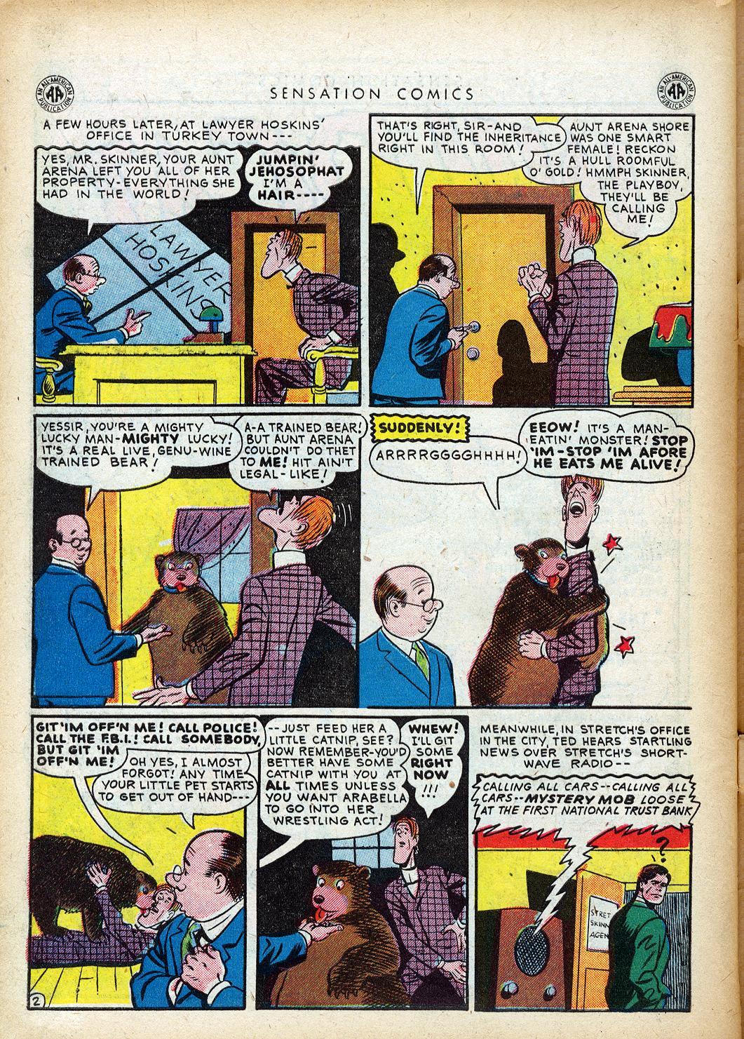 Read online Sensation (Mystery) Comics comic -  Issue #40 - 44