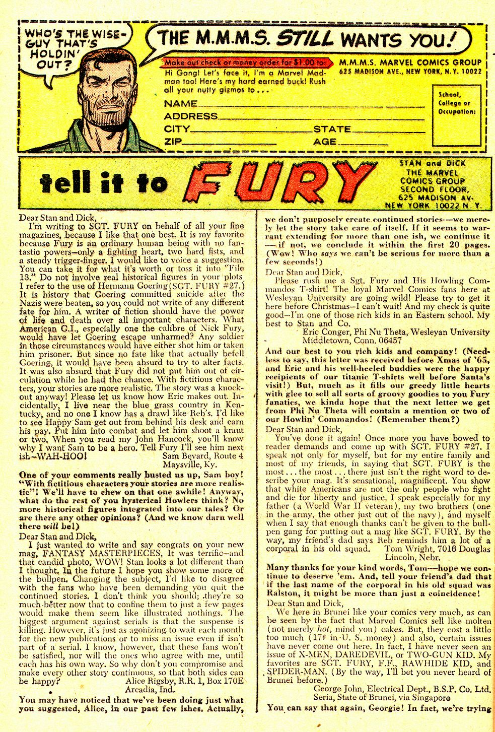 Read online Sgt. Fury comic -  Issue #31 - 32