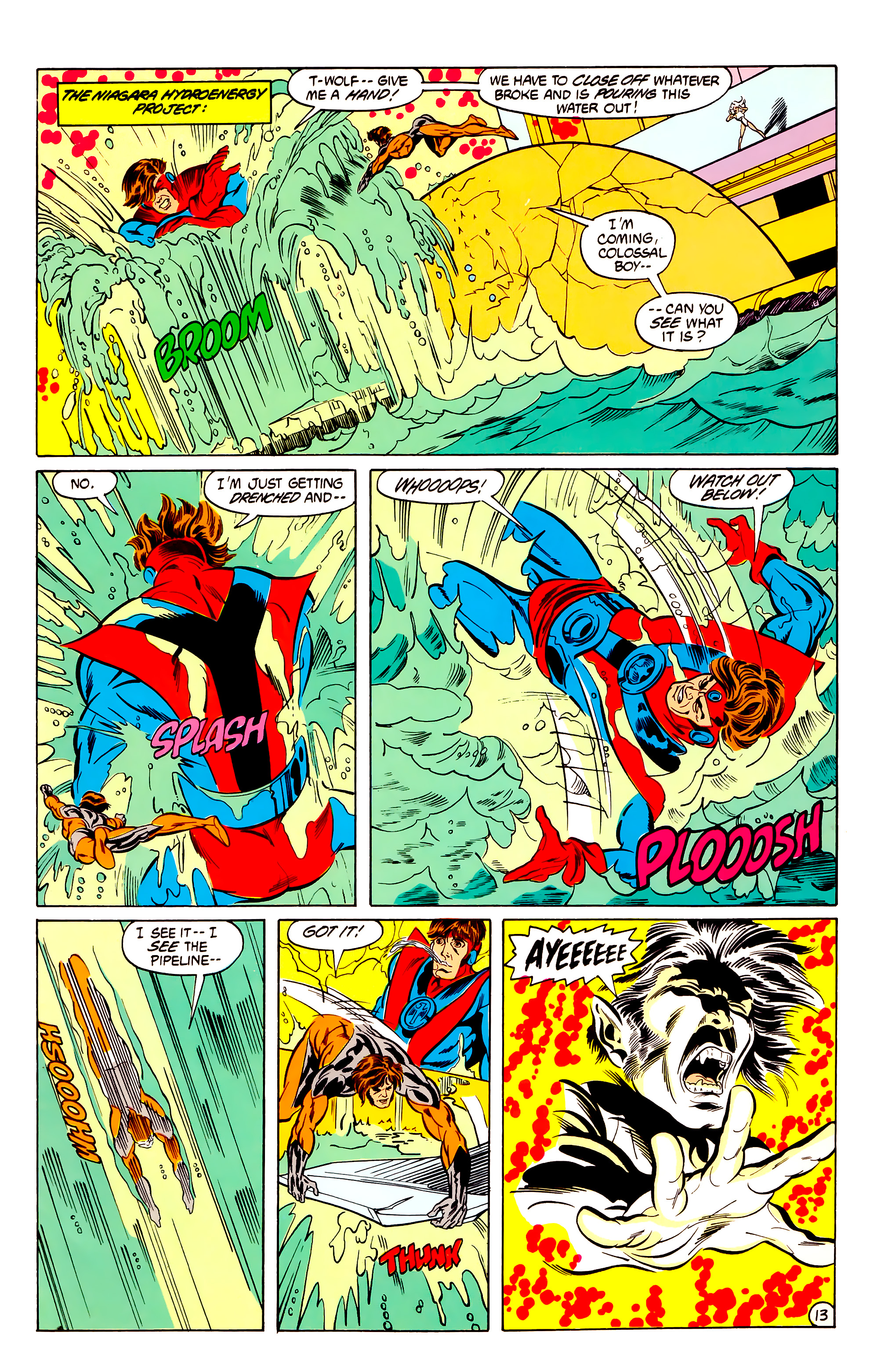 Legion of Super-Heroes (1984) 30 Page 13
