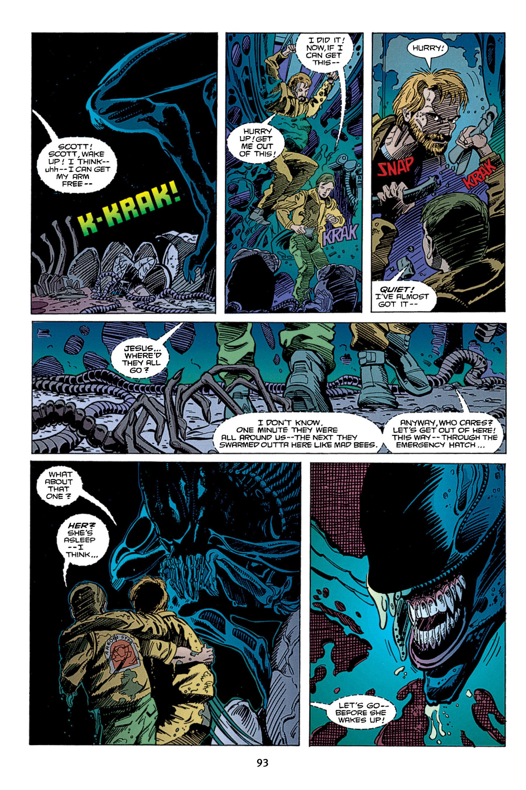 Read online Aliens vs. Predator Omnibus comic -  Issue # _TPB 1 Part 1 - 93