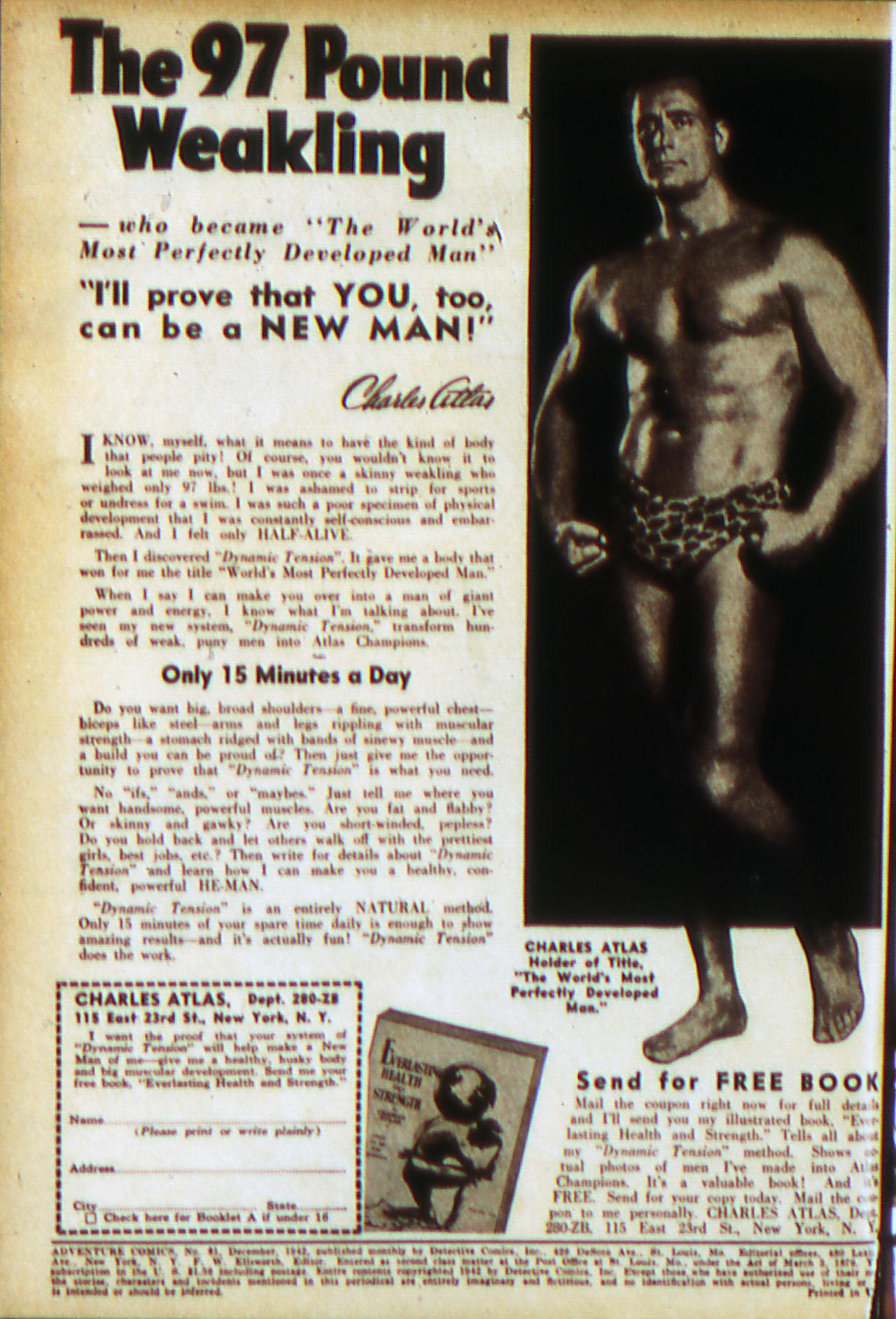 Read online Adventure Comics (1938) comic -  Issue #81 - 2