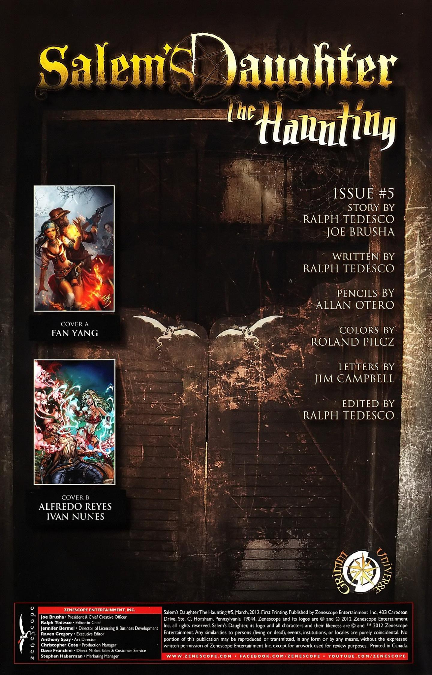 Read online Salem's Daughter: The Haunting comic -  Issue #5 - 3