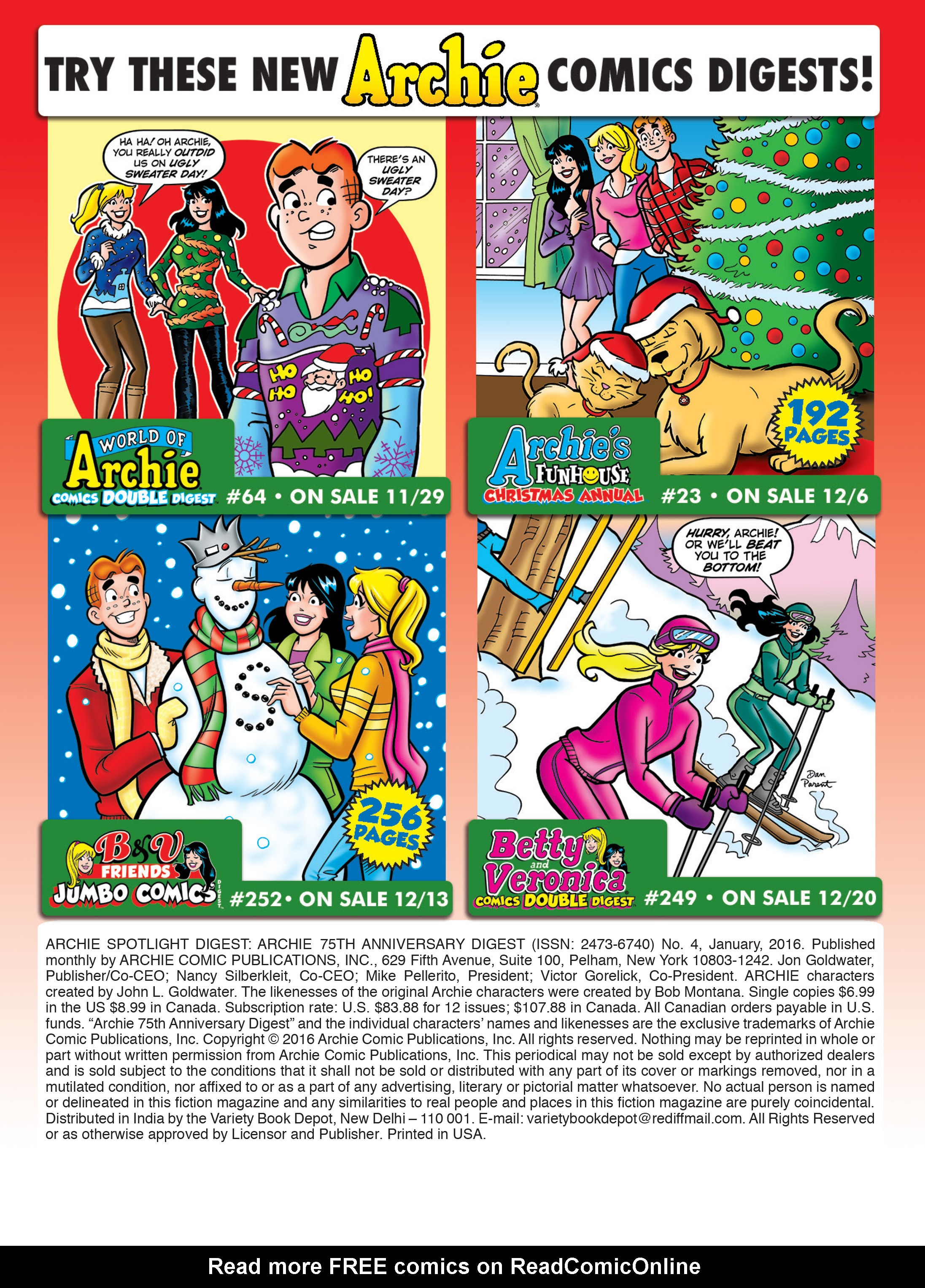 Read online Archie 75th Anniversary Digest comic -  Issue #4 - 217