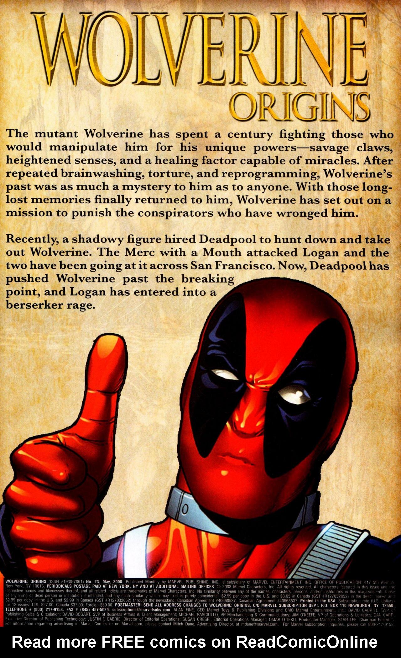 Read online Wolverine: Origins comic -  Issue #23 - 2