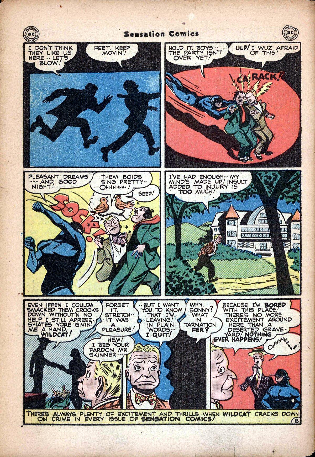 Read online Sensation (Mystery) Comics comic -  Issue #62 - 50