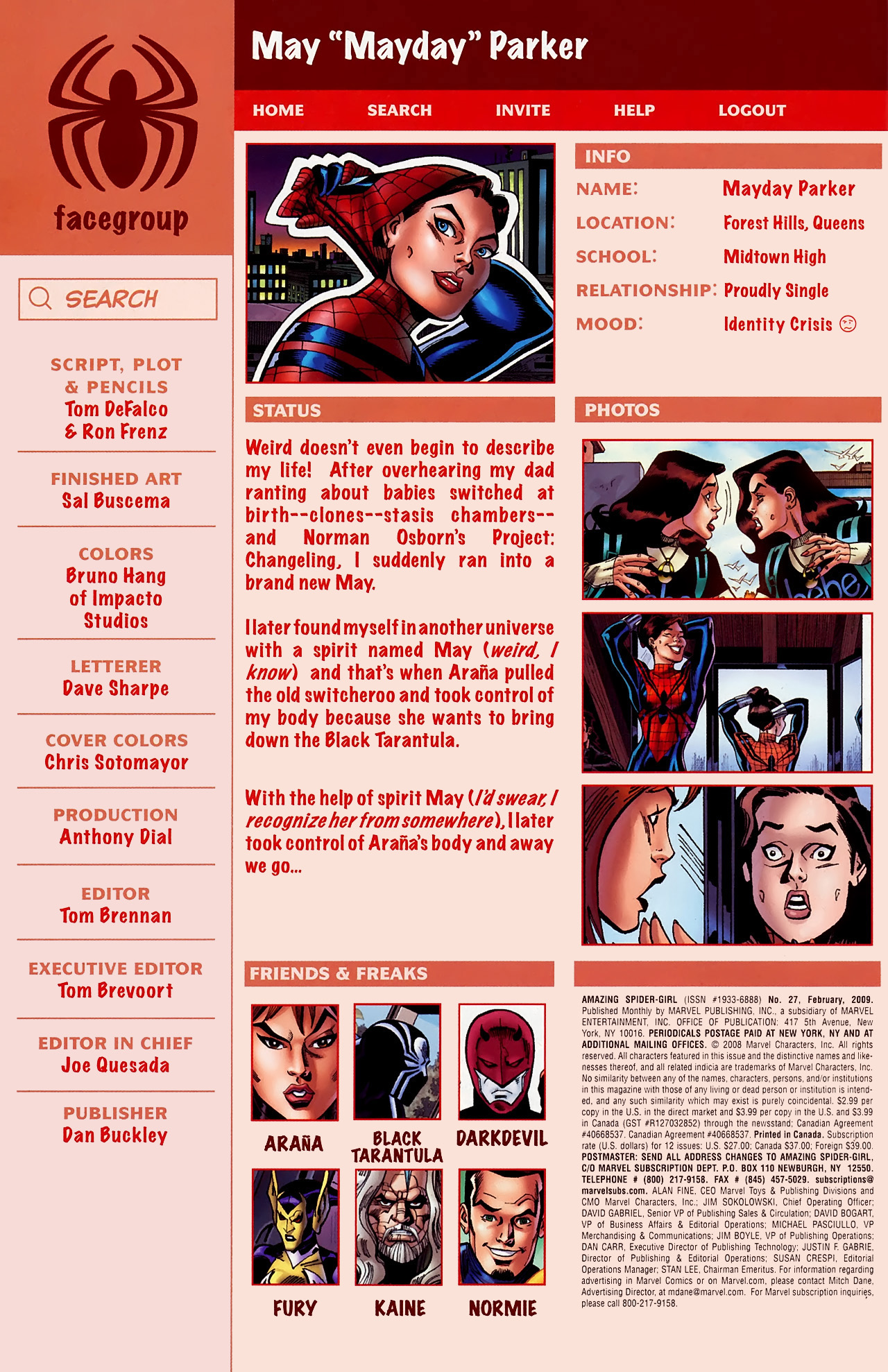 Read online Amazing Spider-Girl comic -  Issue #27 - 4