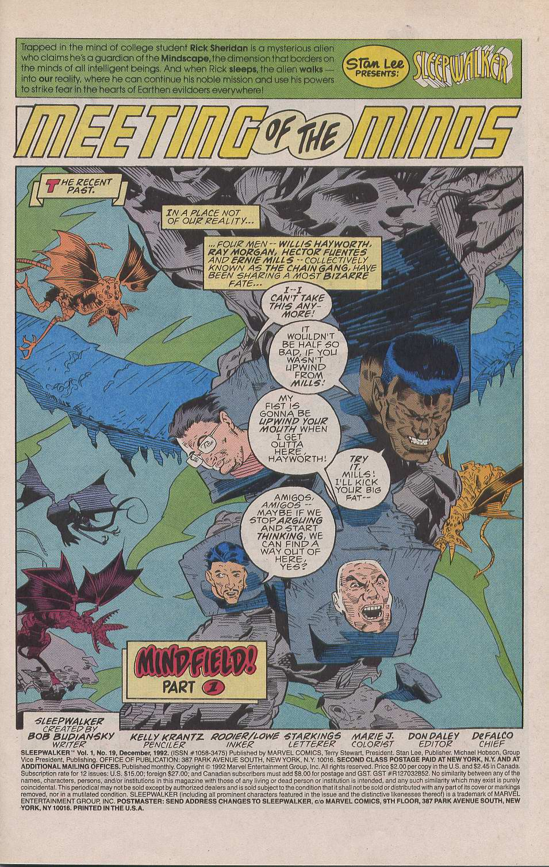 Read online Sleepwalker comic -  Issue #19 - 2
