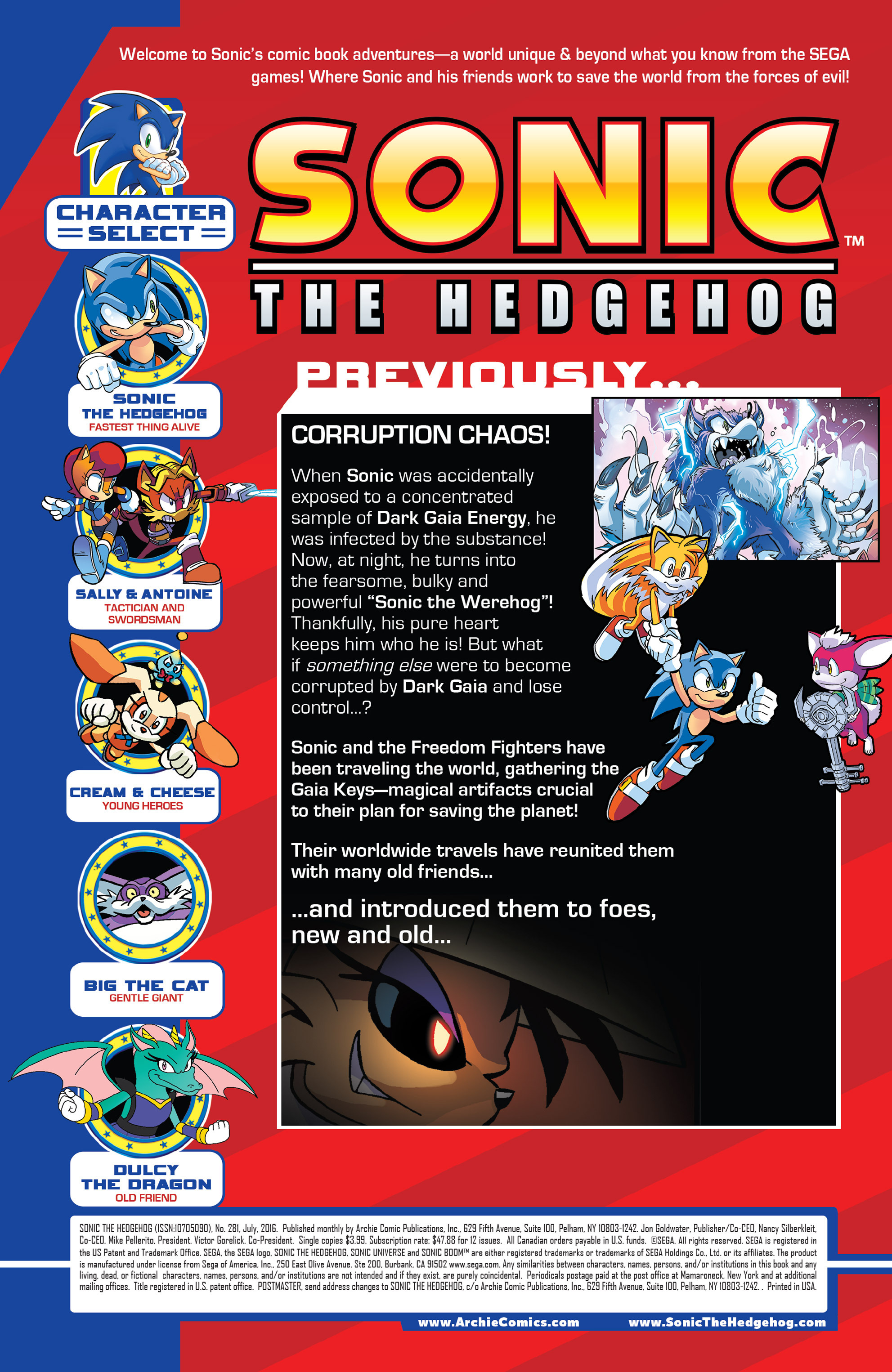 Read online Sonic The Hedgehog comic -  Issue #281 - 2