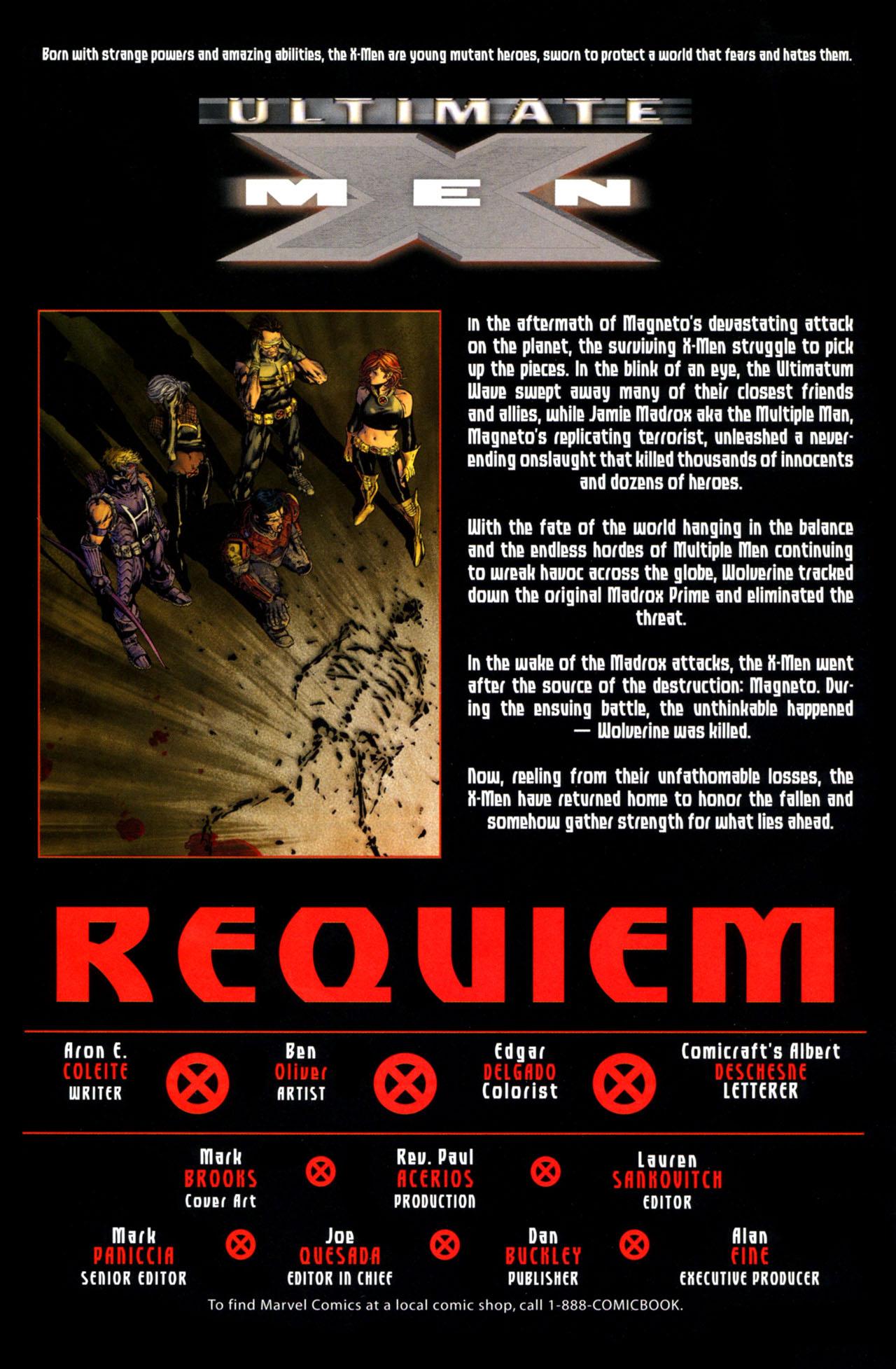Read online Ultimatum: X-Men Requiem comic -  Issue # Full - 3