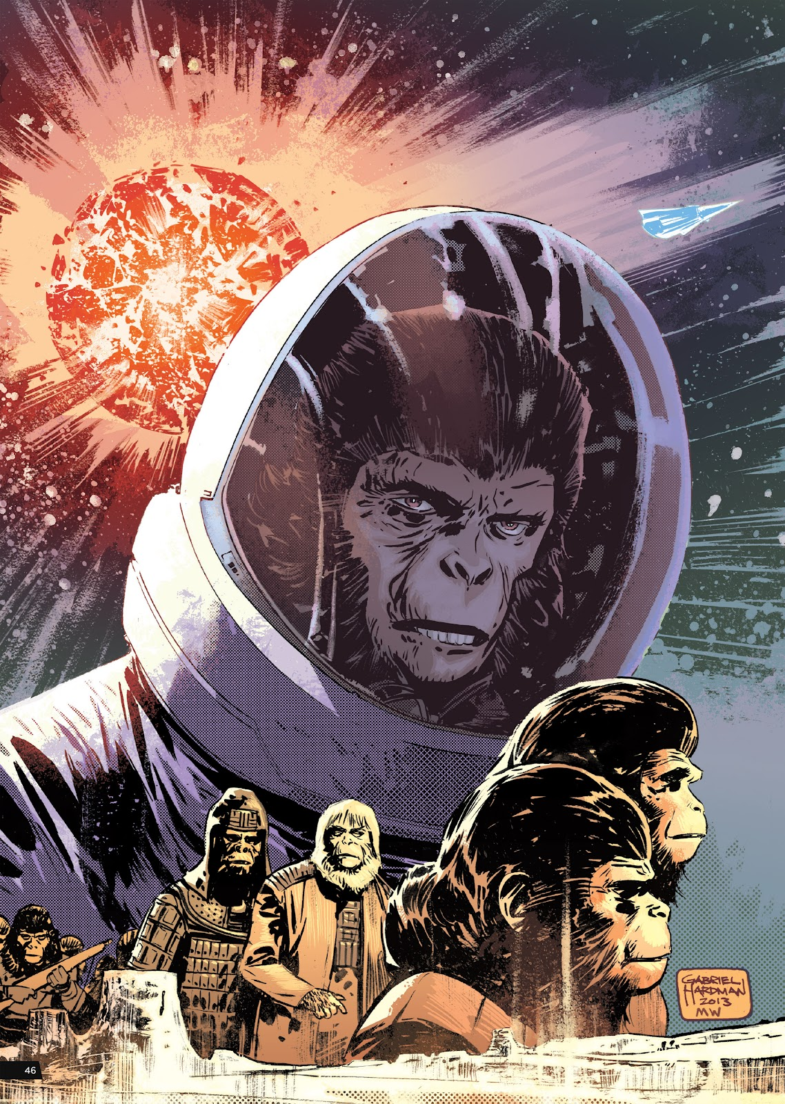 Read online Planet of the Apes Artist Tribute comic -  Issue # TPB - 46