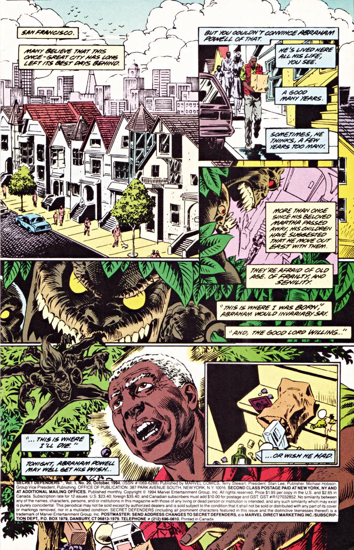 Read online Secret Defenders comic -  Issue #20 - 2