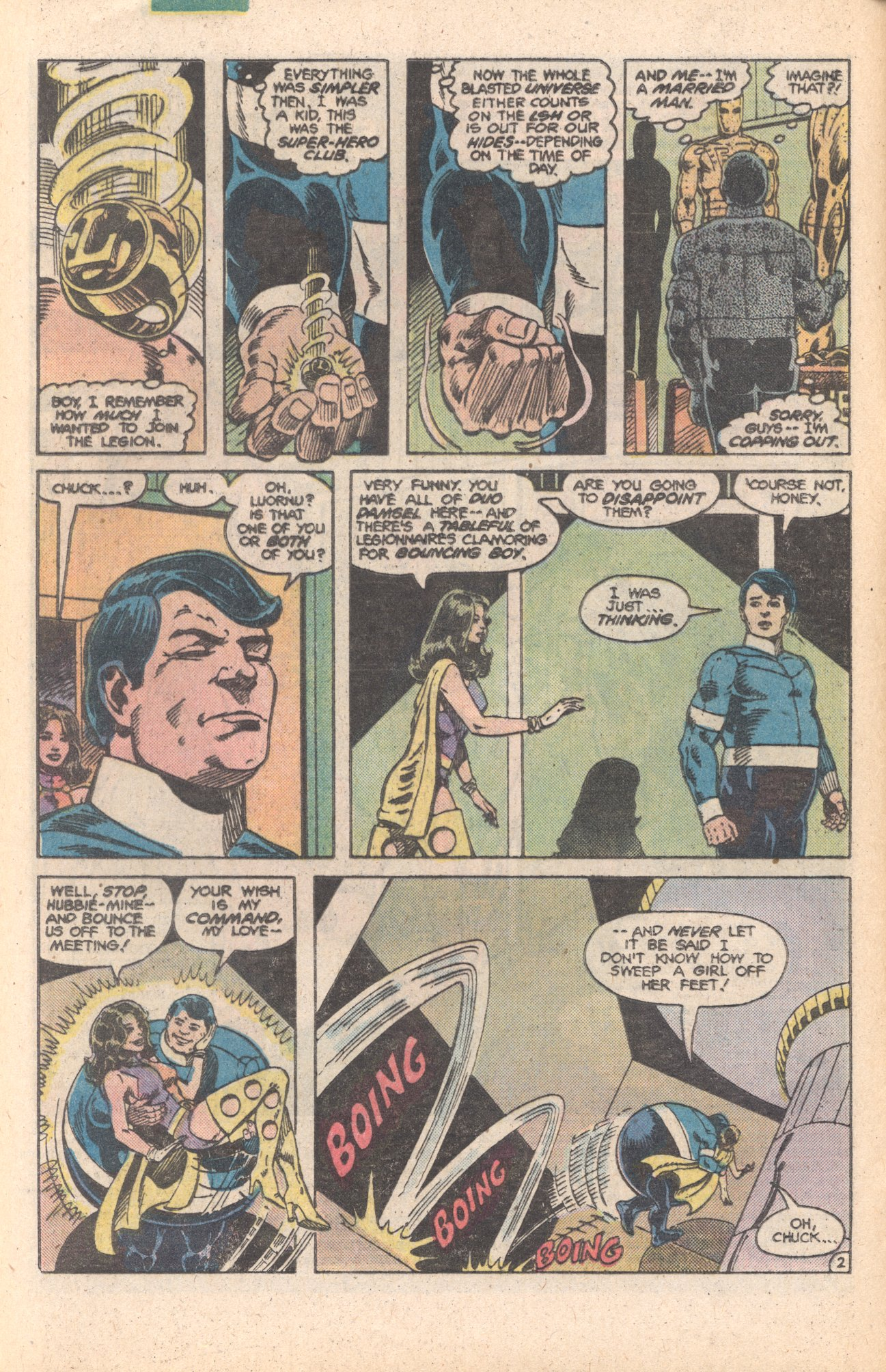 Legion of Super-Heroes (1980) 284 Page 2