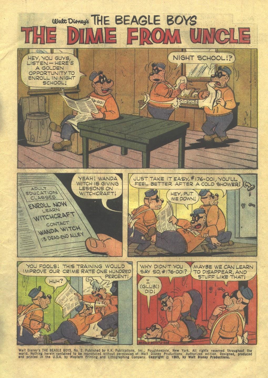 Walt Disney THE BEAGLE BOYS issue 2 - Page 3
