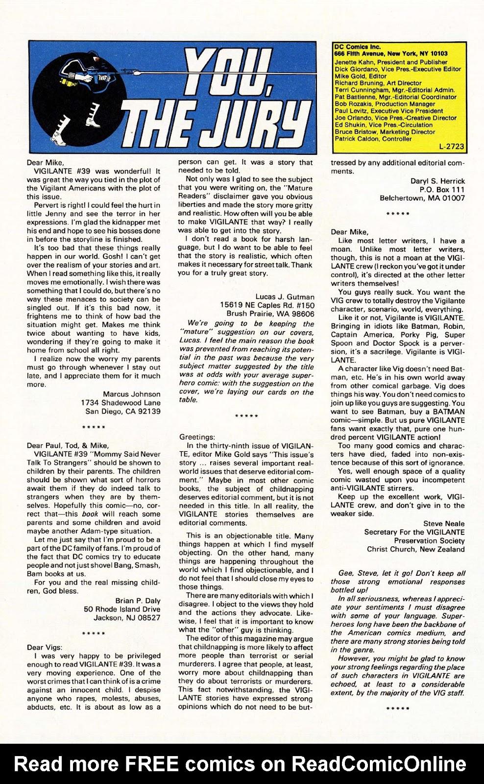 Vigilante (1983) issue 43 - Page 30