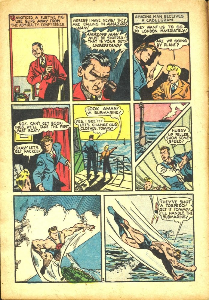 Read online Amazing Man Comics comic -  Issue #25 - 4