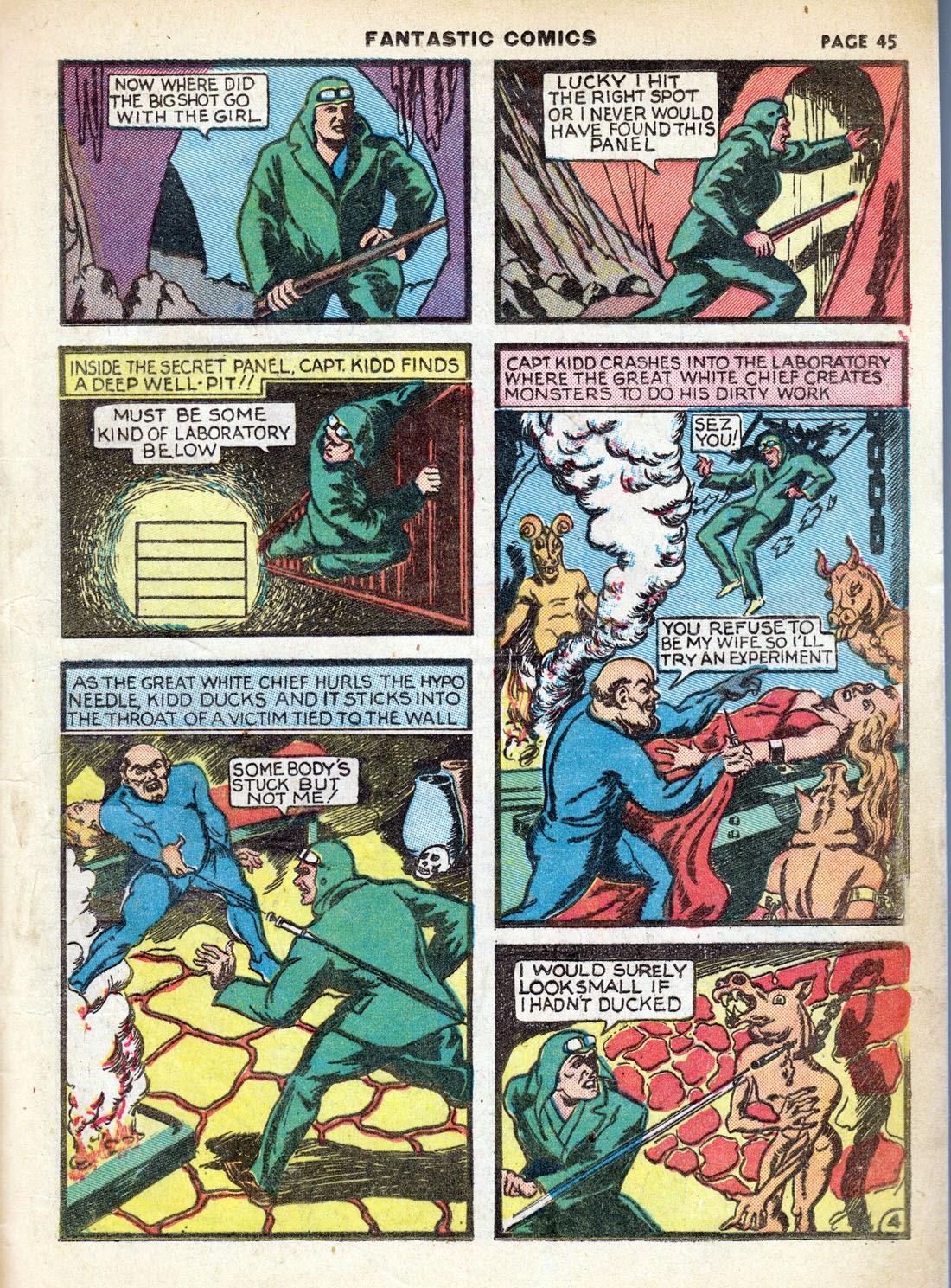 Read online Fantastic Comics comic -  Issue #7 - 47