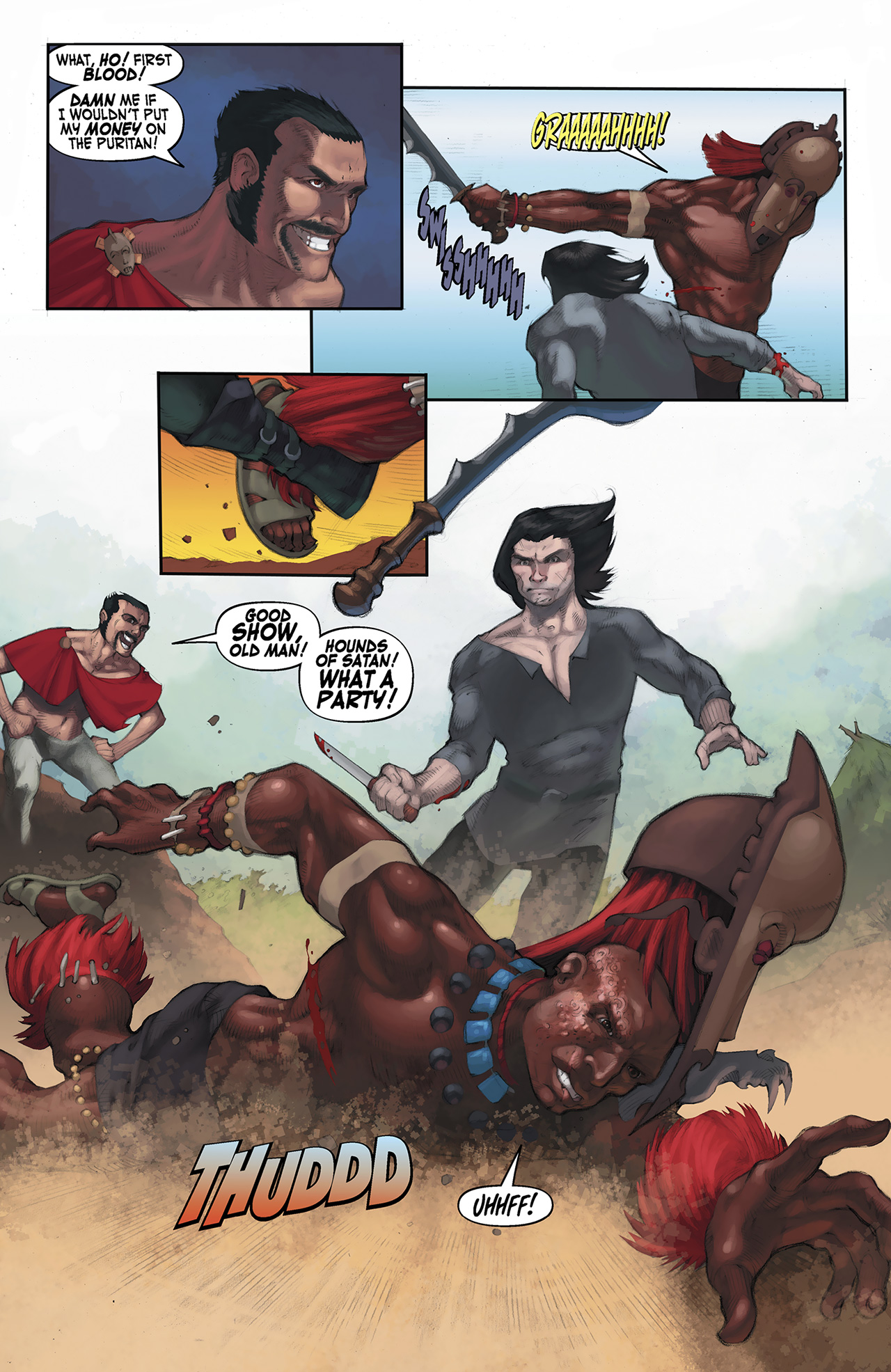 Read online Solomon Kane: Red Shadows comic -  Issue #3 - 22