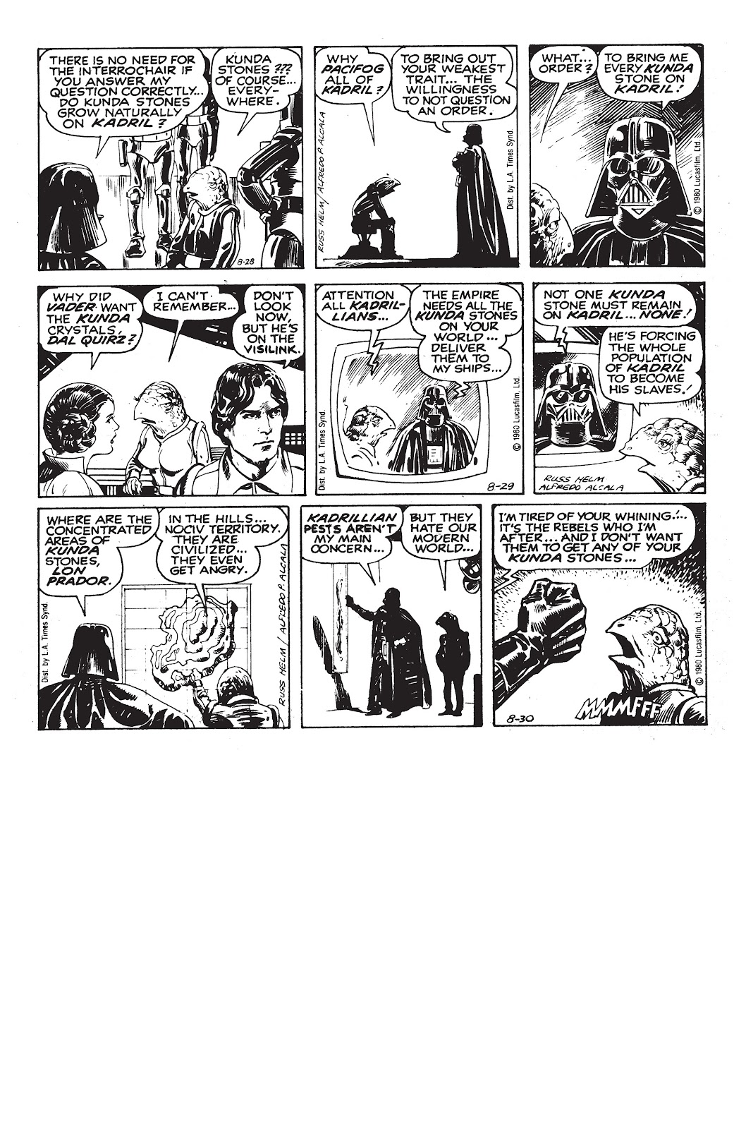 Read online Star Wars Legends: The Newspaper Strips - Epic Collection comic -  Issue # TPB (Part 3) - 88