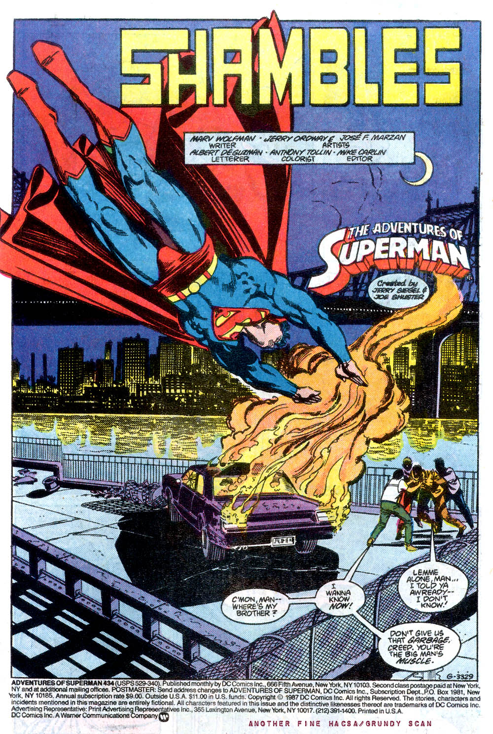 Read online Adventures of Superman (1987) comic -  Issue #434 - 2