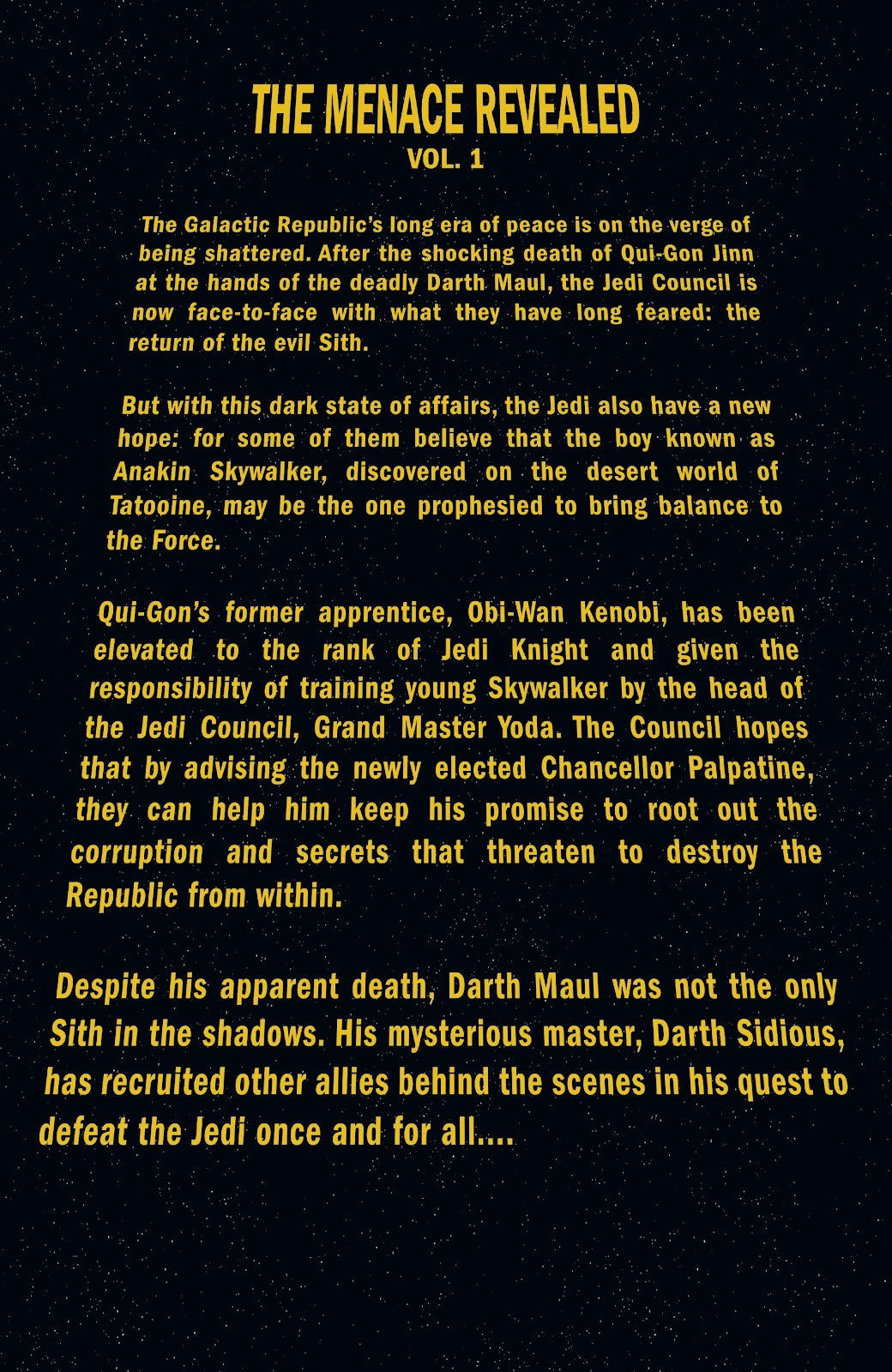 Read online Star Wars Legends Epic Collection: The Menace Revealed comic -  Issue # TPB (Part 1) - 5