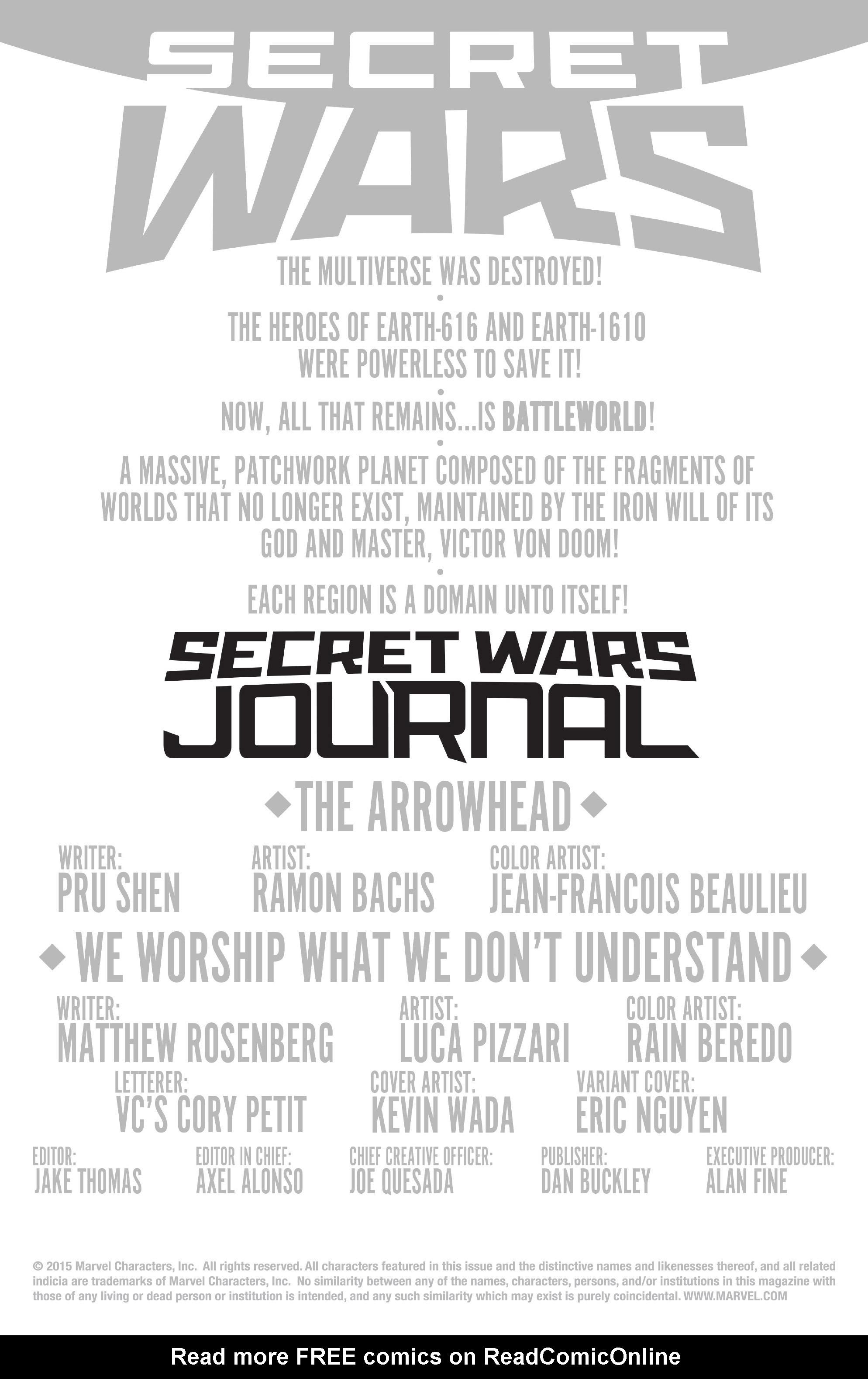Read online Secret Wars Journal/Battleworld comic -  Issue # TPB - 5