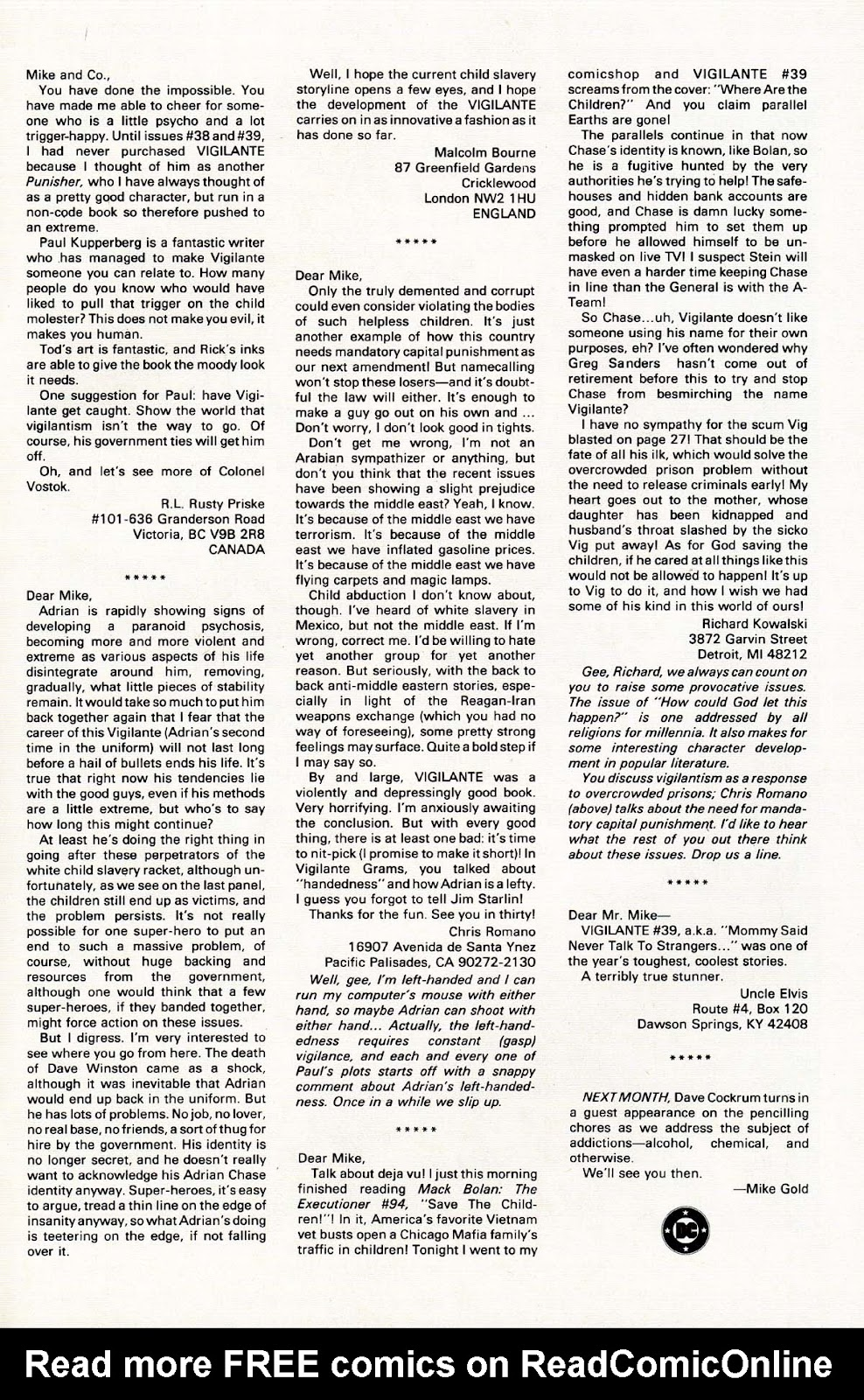 Vigilante (1983) issue 43 - Page 31