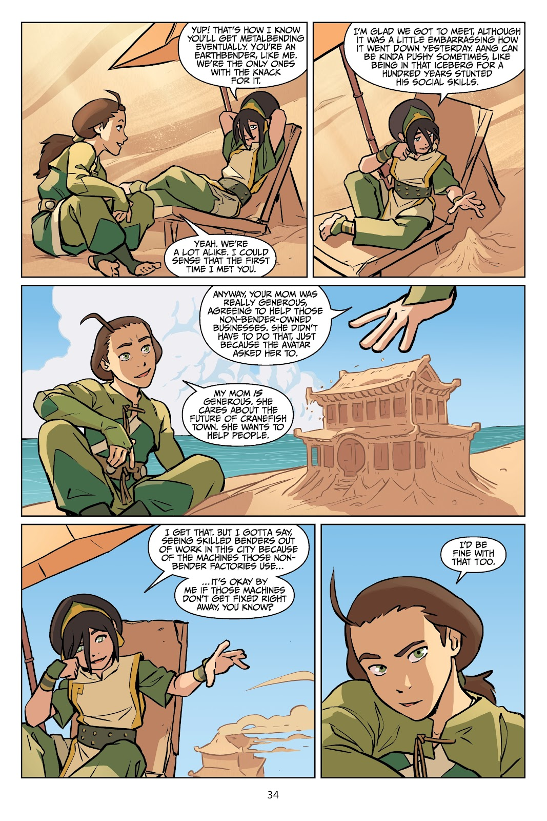 Read online Nickelodeon Avatar: The Last Airbender - Imbalance comic -  Issue # TPB 2 - 35