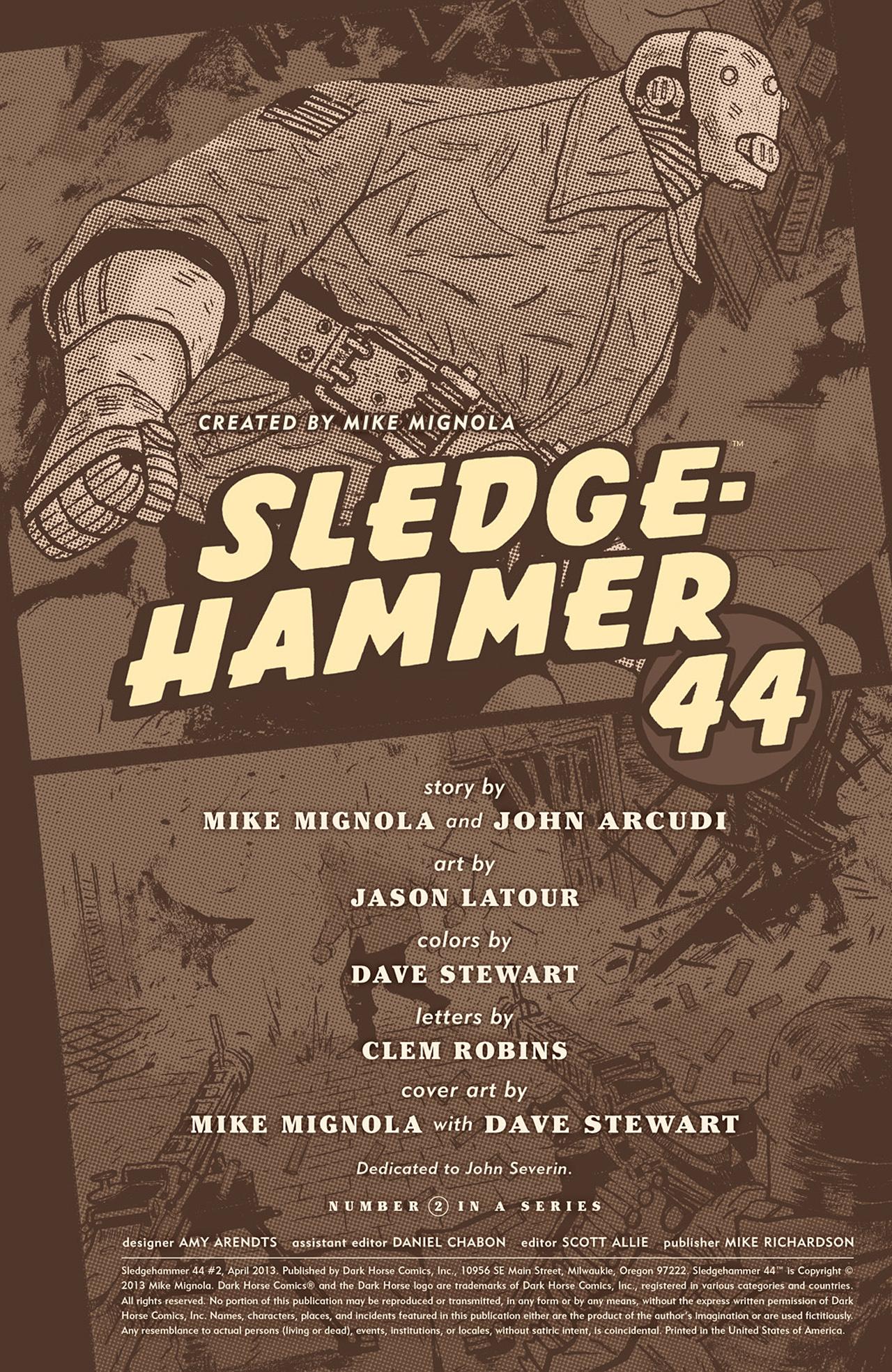 Read online Sledgehammer 44 comic -  Issue #2 - 2