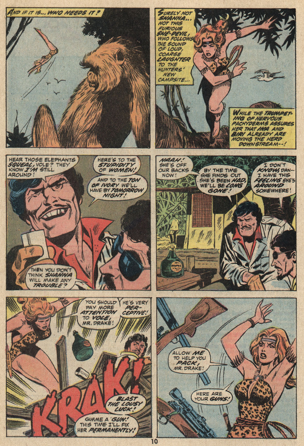Read online Shanna, the She-Devil (1972) comic -  Issue #1 - 8