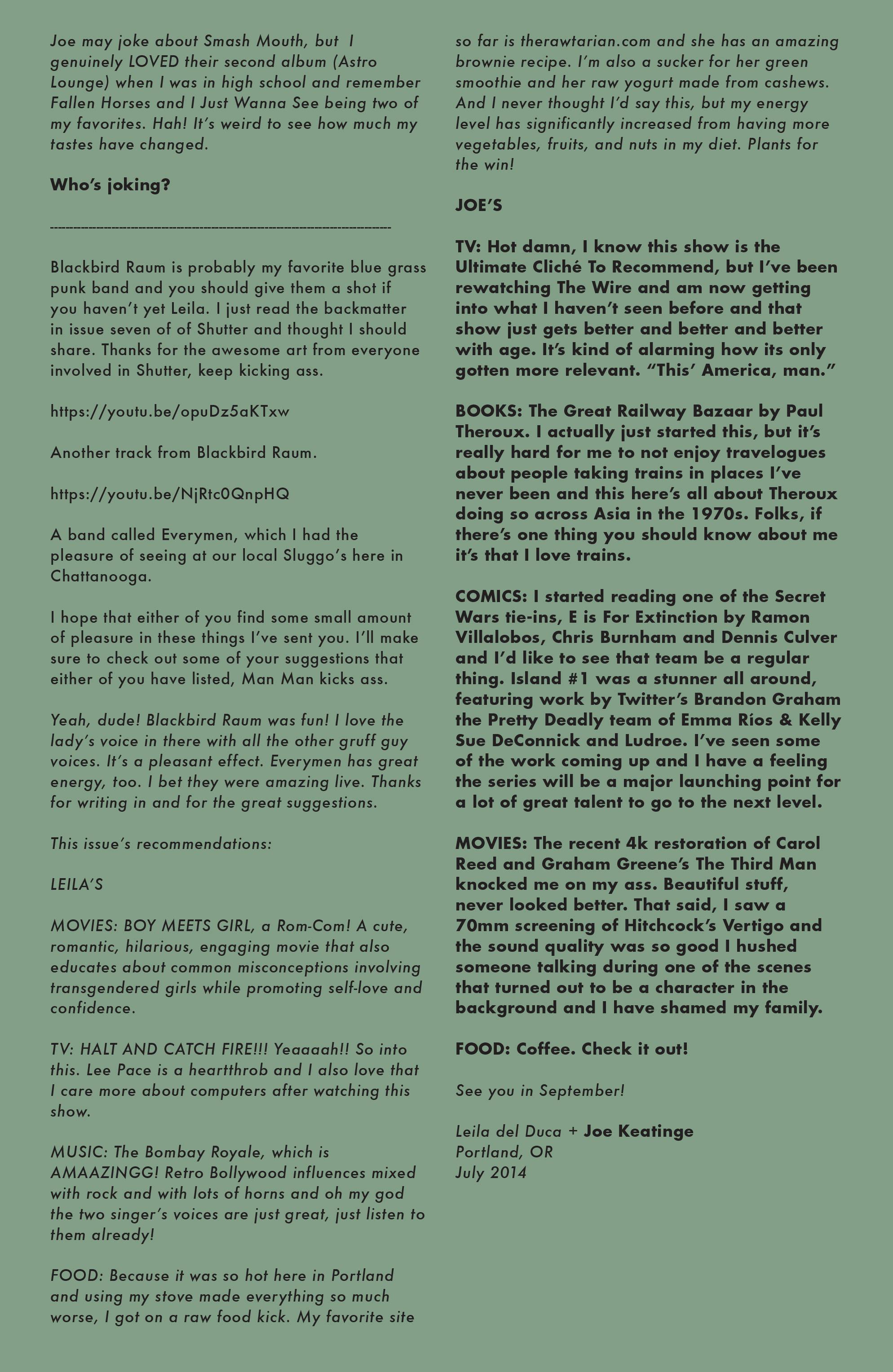 Read online Shutter comic -  Issue #14 - 23