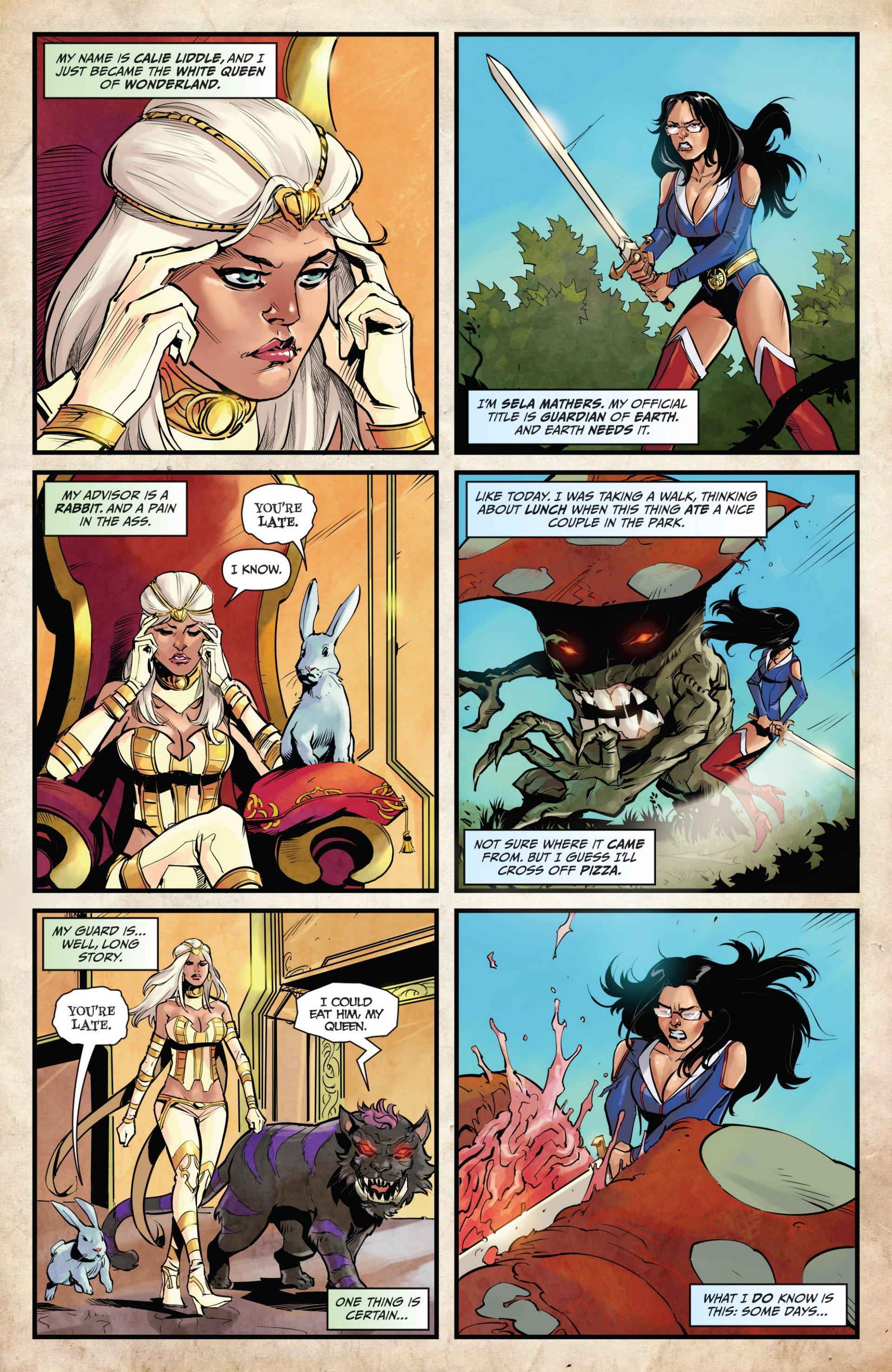 Read online Grimm Fairy Tales vs. Wonderland comic -  Issue #1 - 4
