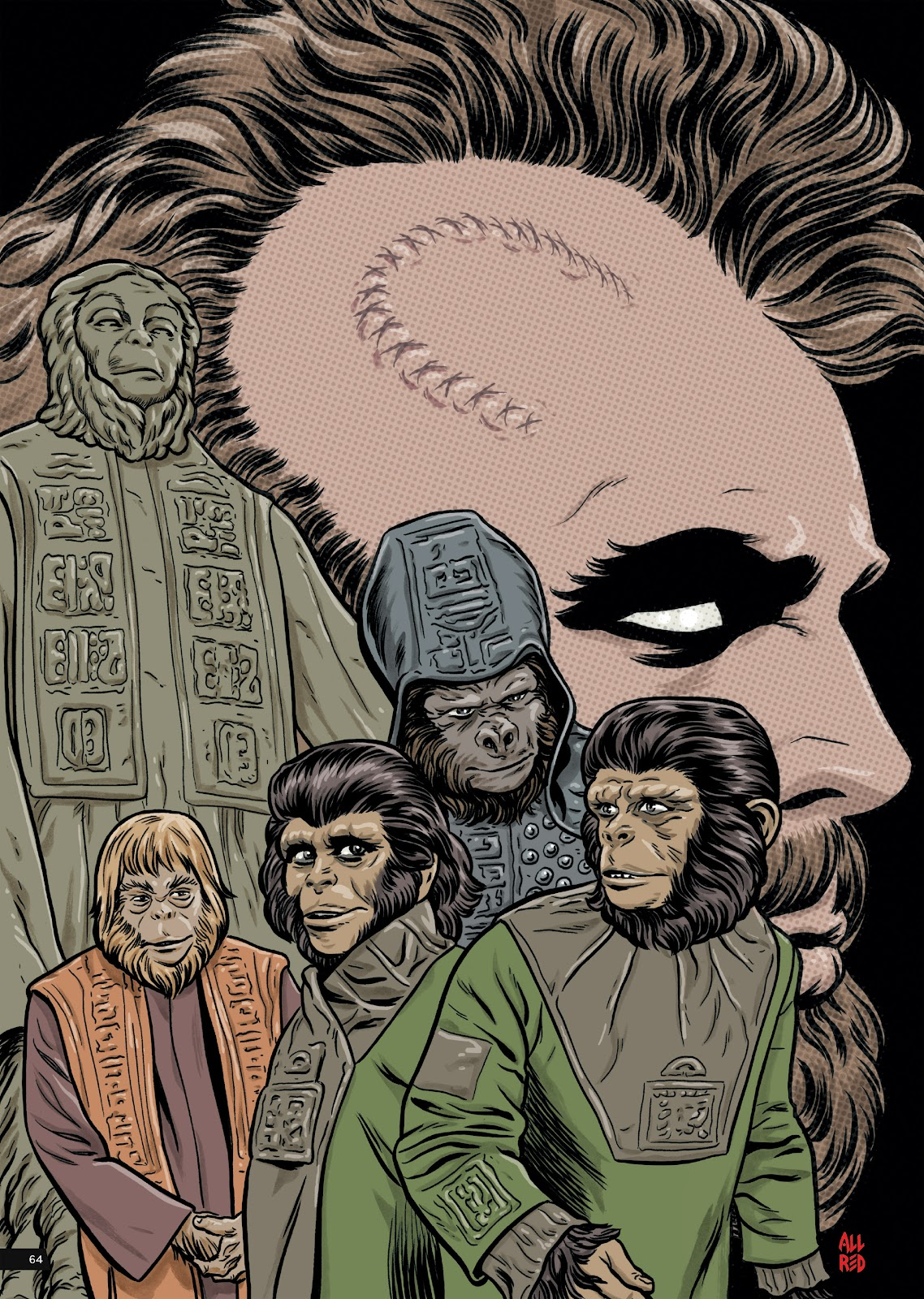 Read online Planet of the Apes Artist Tribute comic -  Issue # TPB - 64