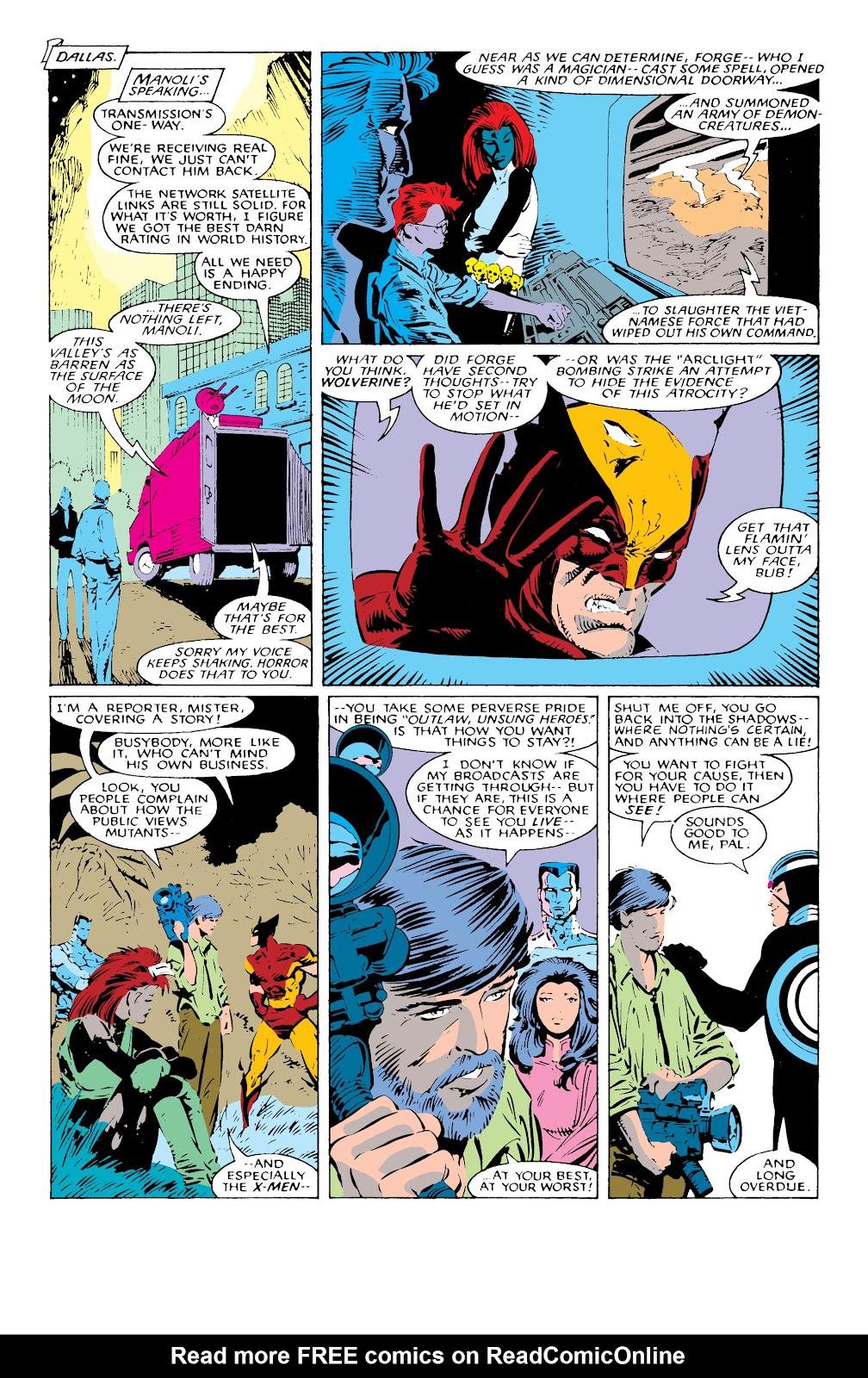 Read online X-Men Milestones: Fall of the Mutants comic -  Issue # TPB (Part 1) - 76