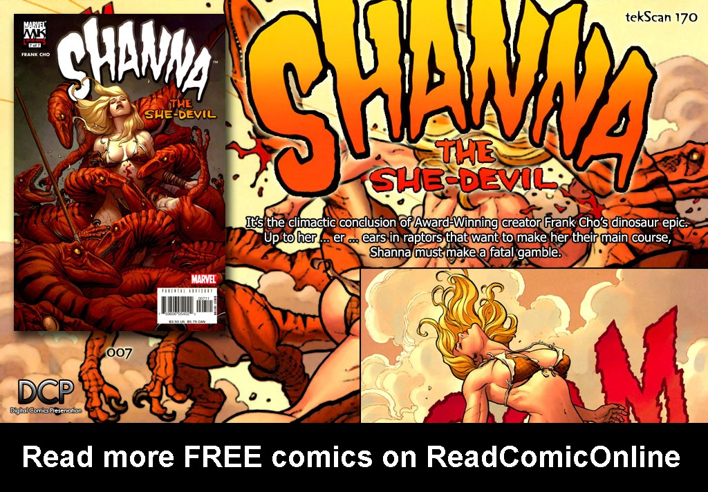 Read online Shanna, the She-Devil (2005) comic -  Issue #7 - 21