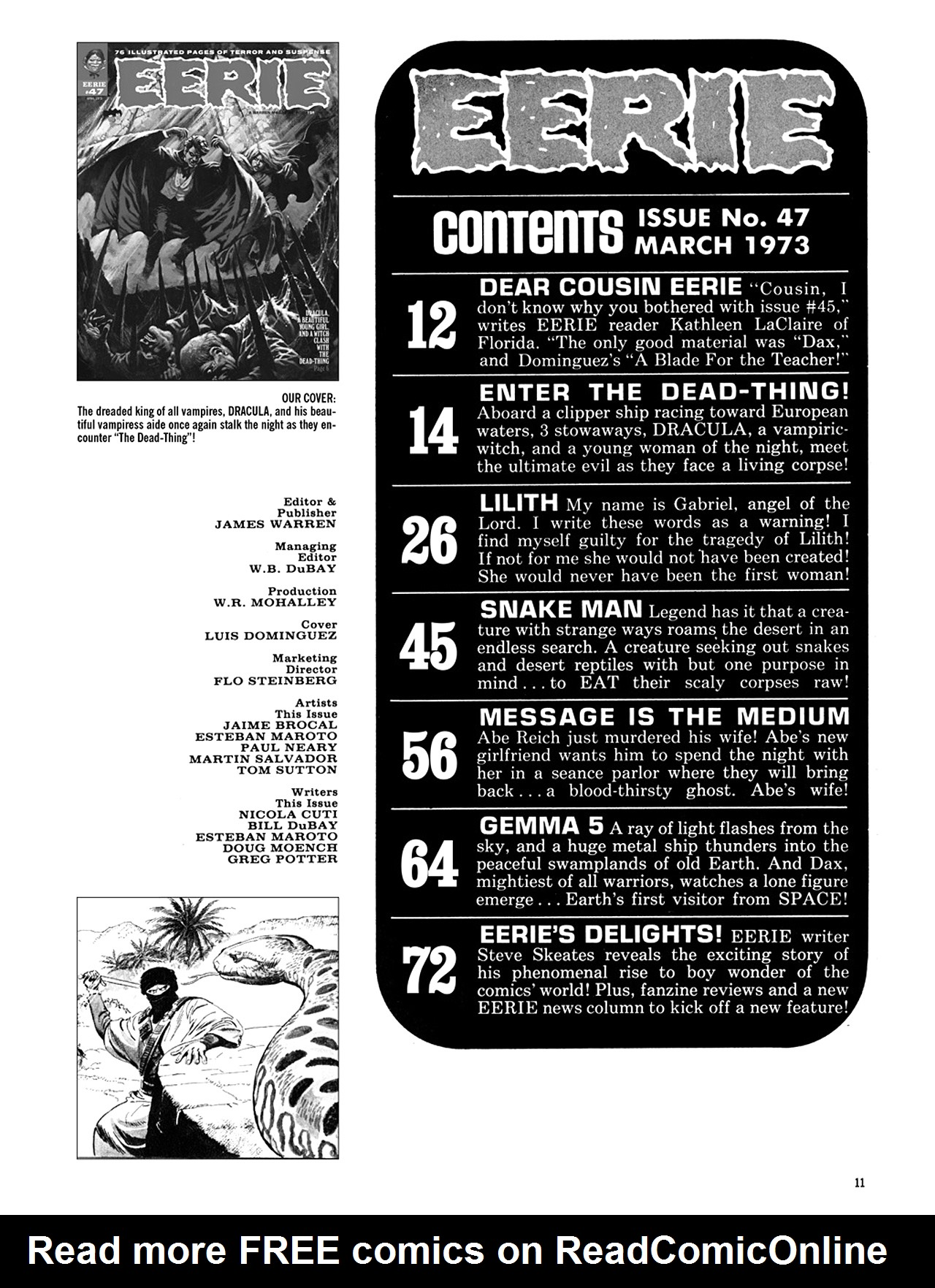 Read online Eerie Archives comic -  Issue # TPB 10 - 12