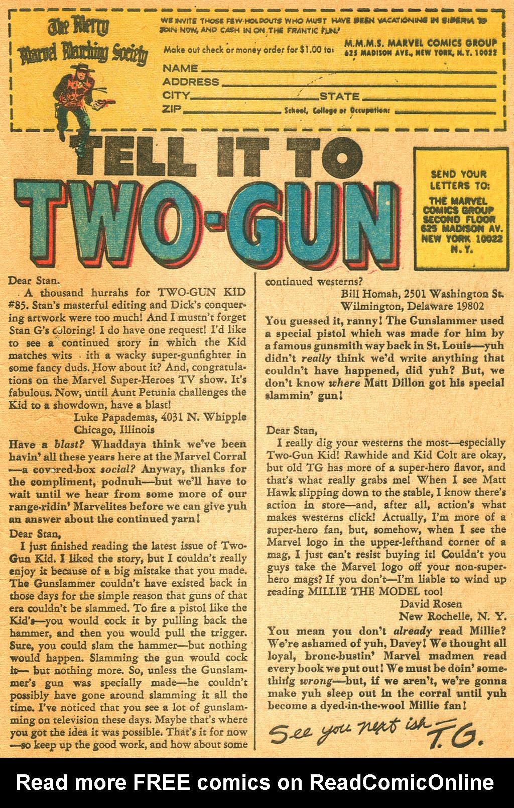 Read online Two-Gun Kid comic -  Issue #87 - 33