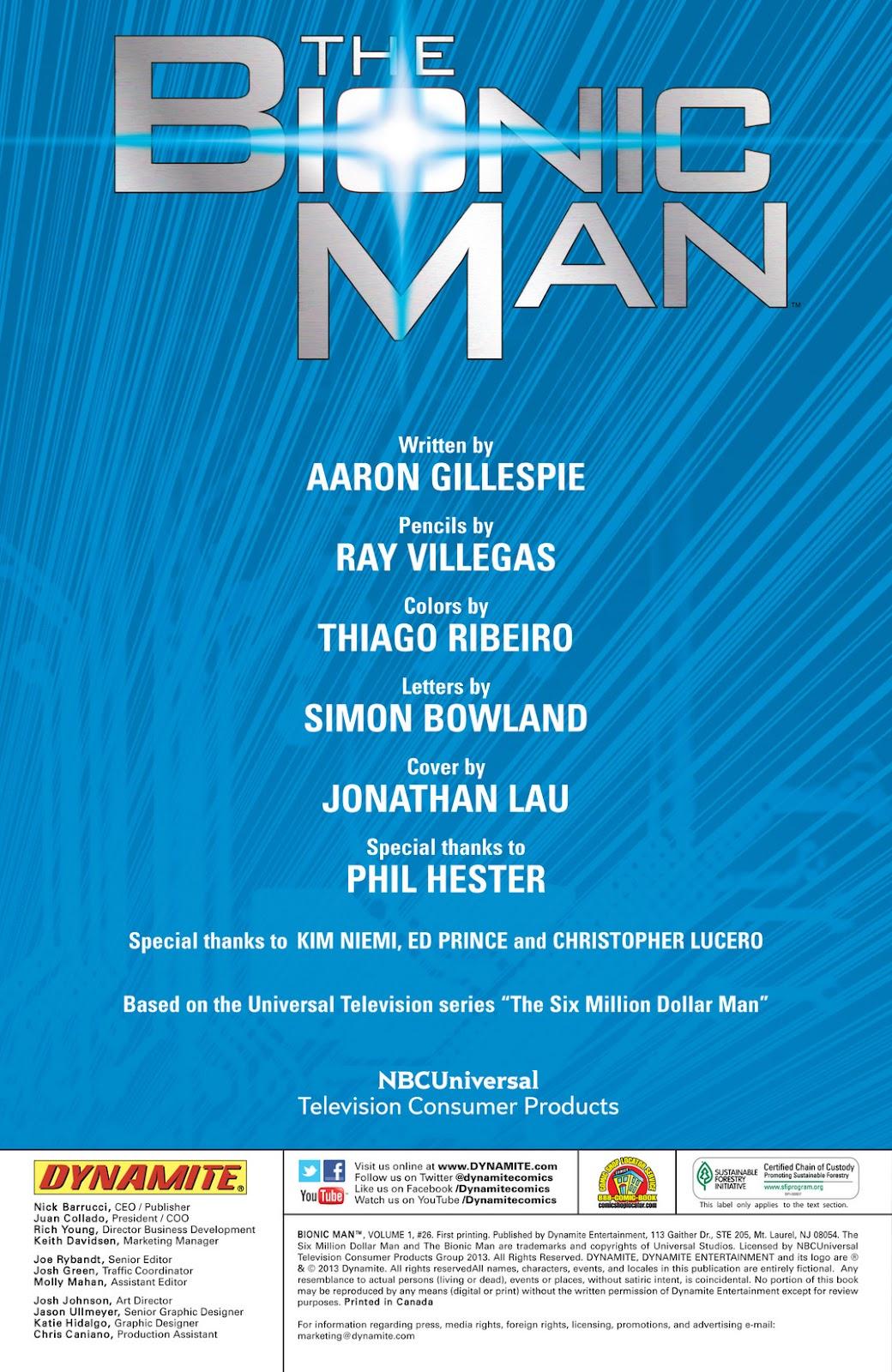 Bionic Man 26 Page 2