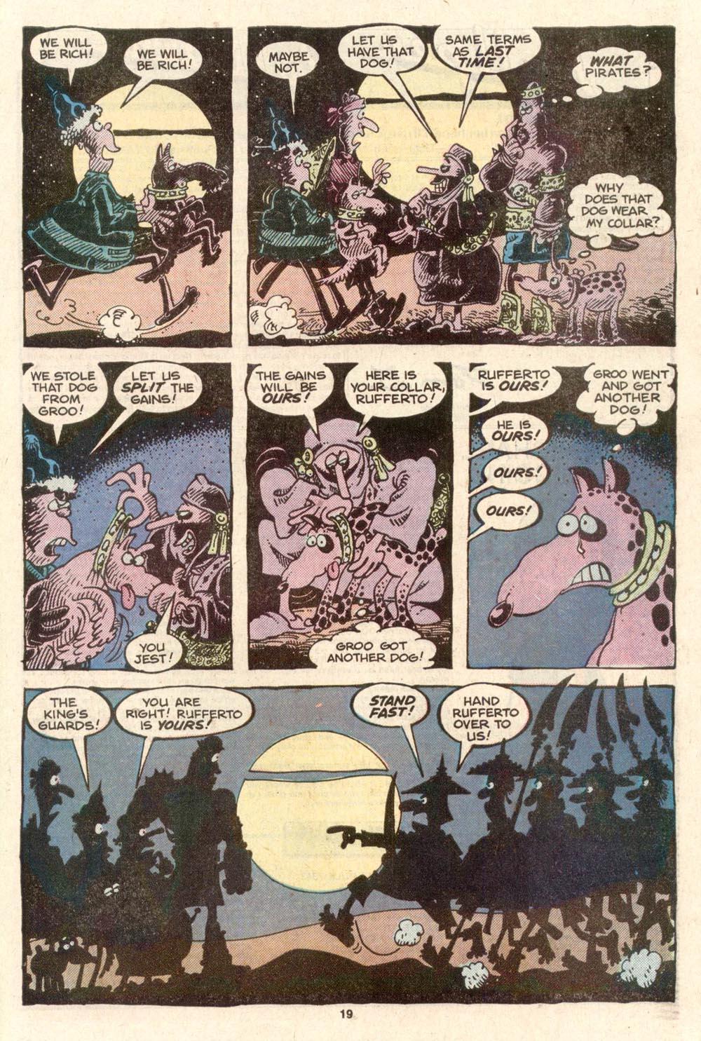 Read online Sergio Aragonés Groo the Wanderer comic -  Issue #39 - 19