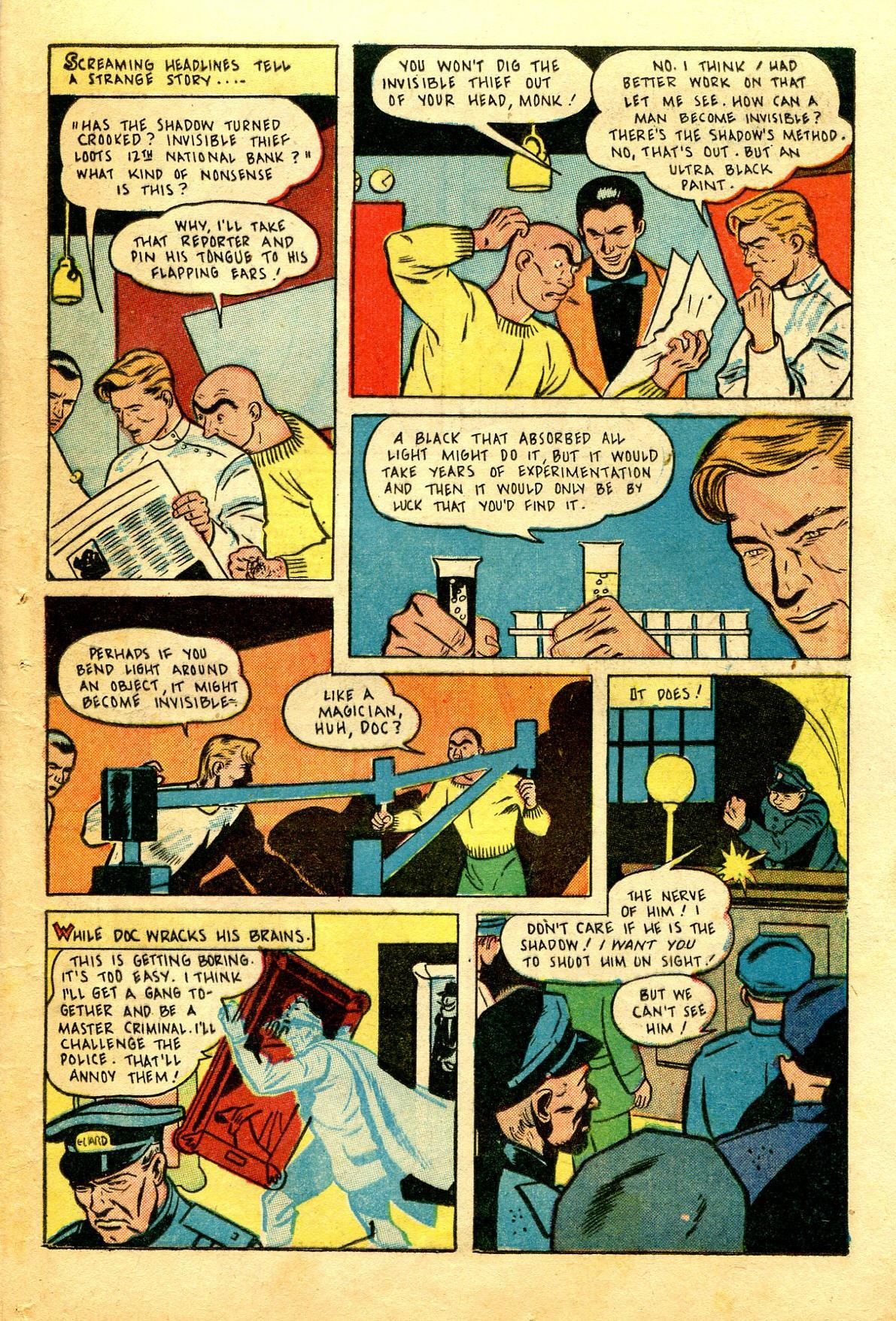 Read online Shadow Comics comic -  Issue #43 - 45