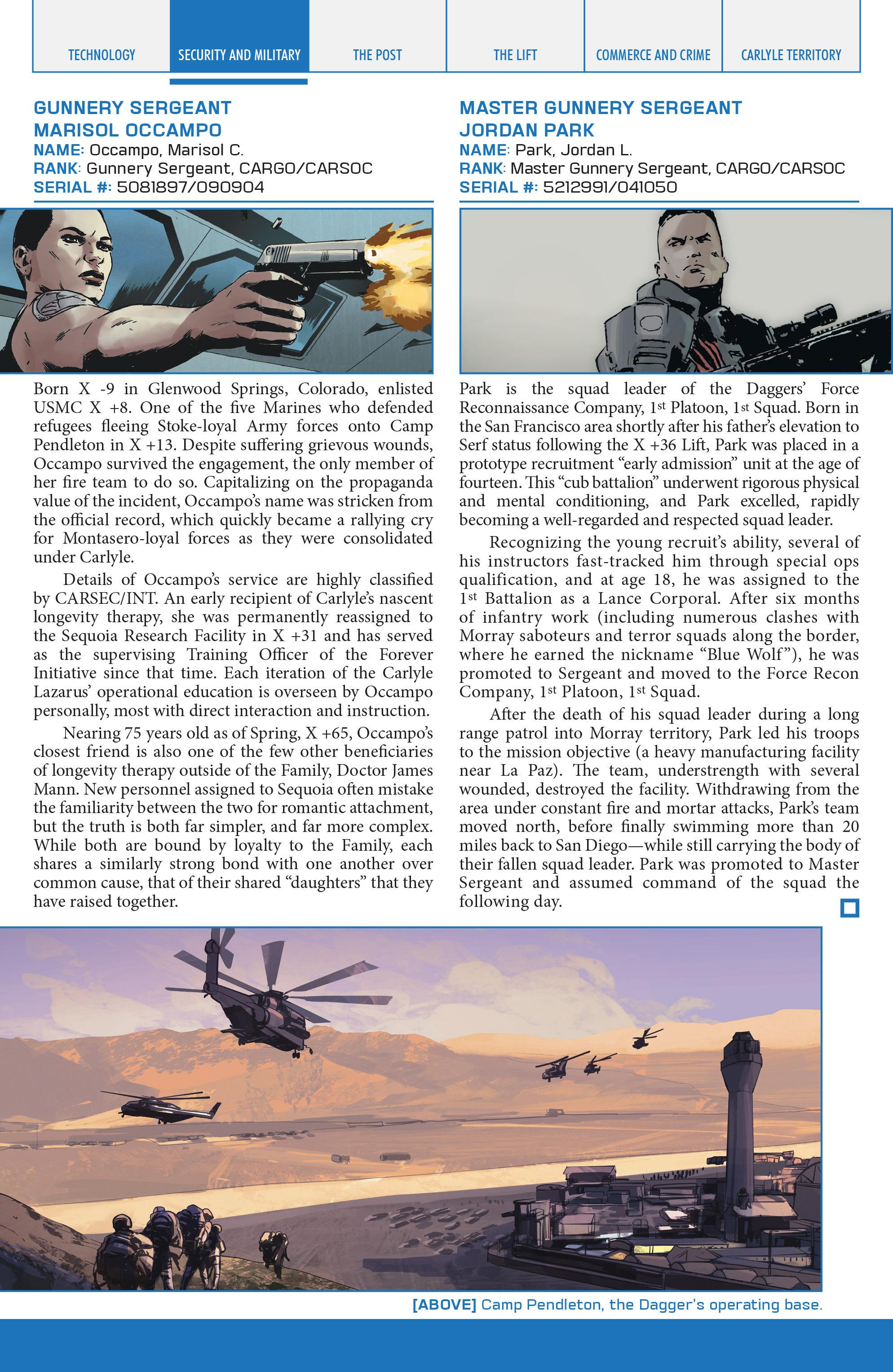 Read online Lazarus Sourcebook comic -  Issue # Vol. 1 - 27