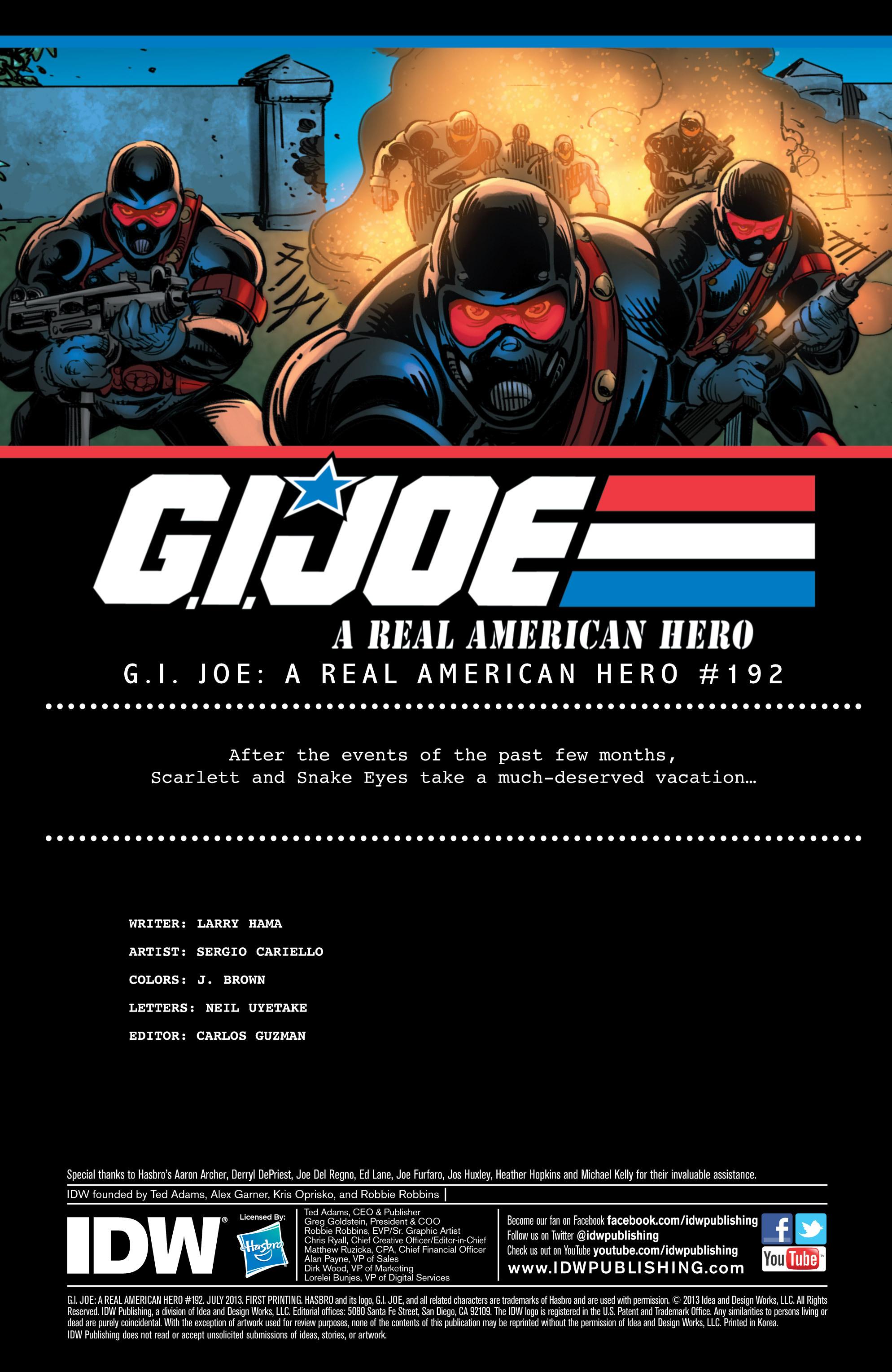 G.I. Joe: A Real American Hero 192 Page 1