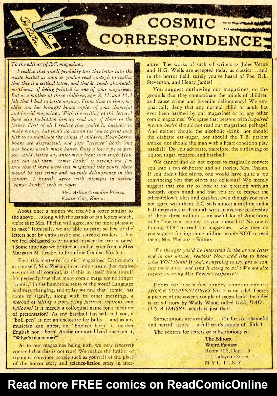 Weird Fantasy (1951) issue 13 - Page 20