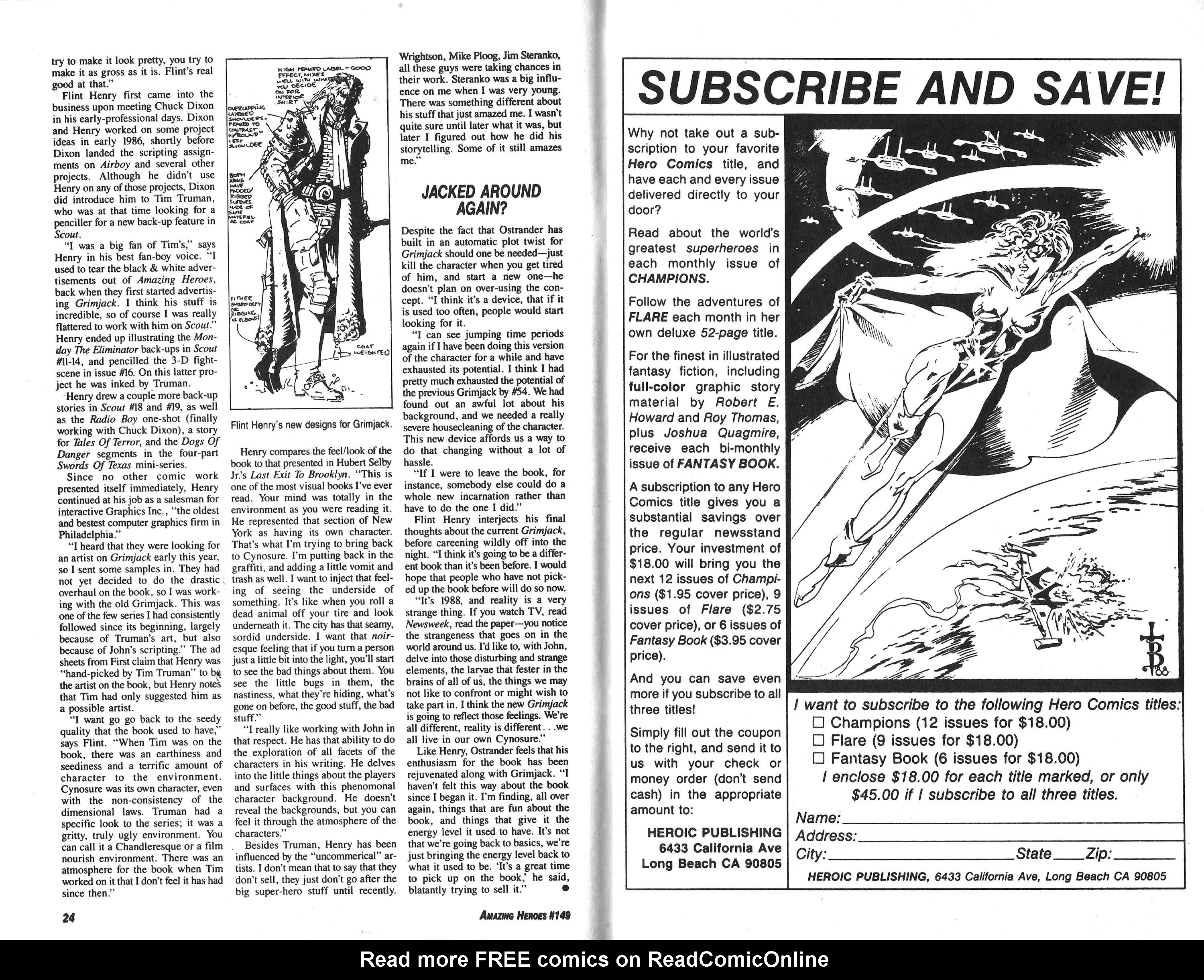 Read online Amazing Heroes comic -  Issue #149 - 13