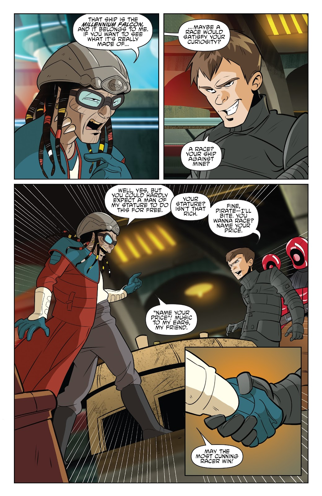 Read online Star Wars Adventures: Flight of the Falcon comic -  Issue # Full - 7