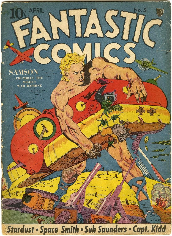 Read online Fantastic Comics comic -  Issue #5 - 1